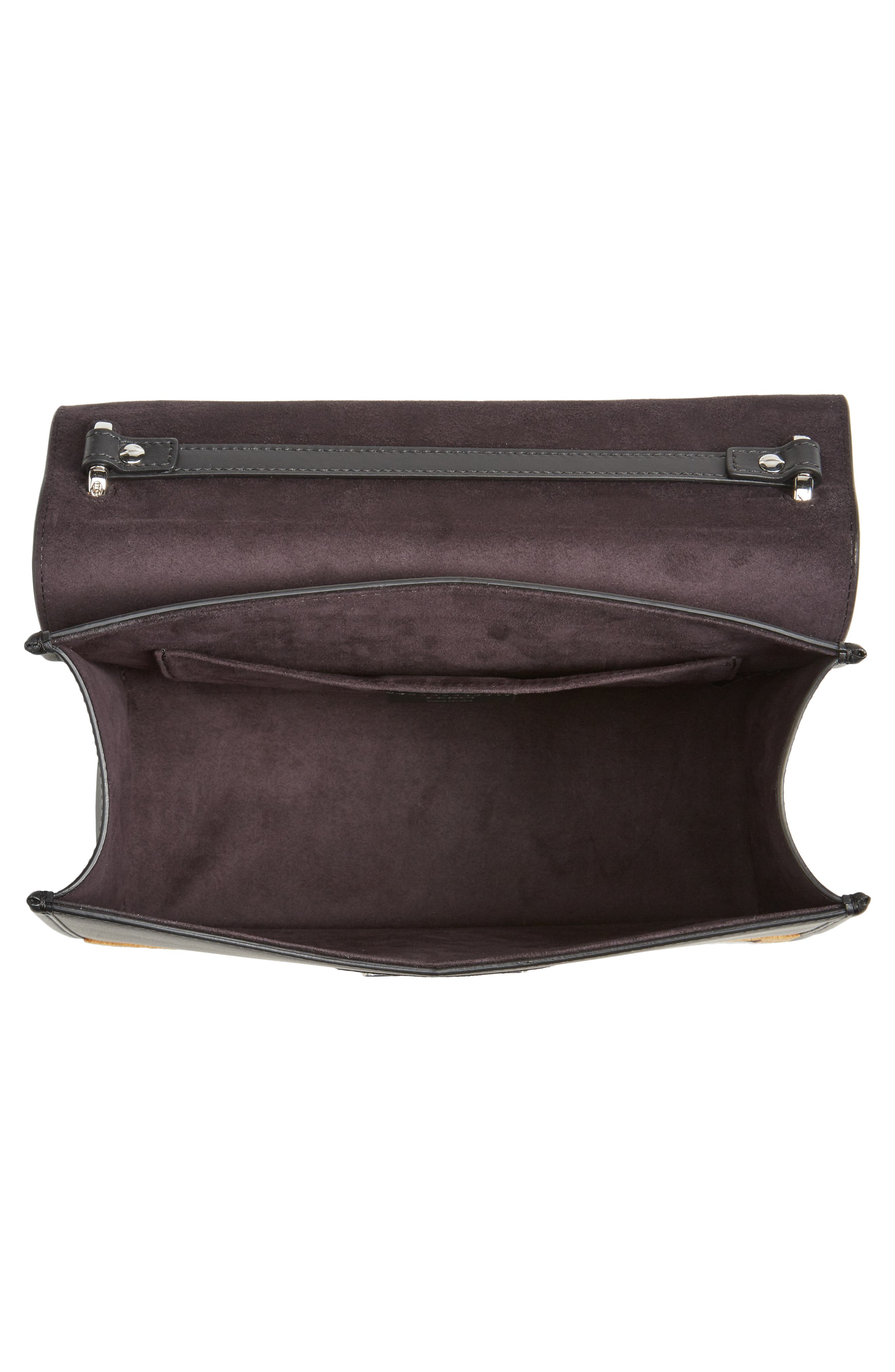 Alternate Image 4  - Fendi Kan I Logo Tappetino Leather & Velvet Shoulder Bag