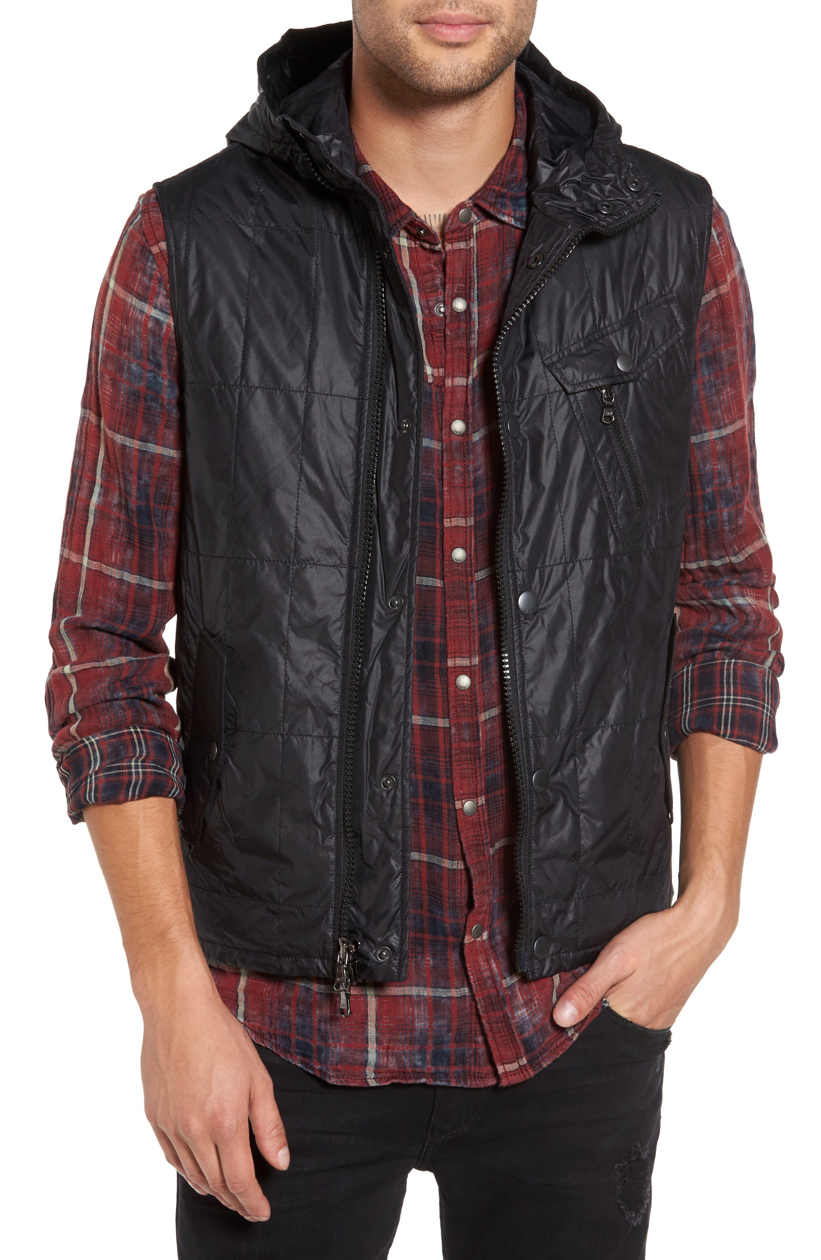 Quilted Vest,                         Main,                         color, Black