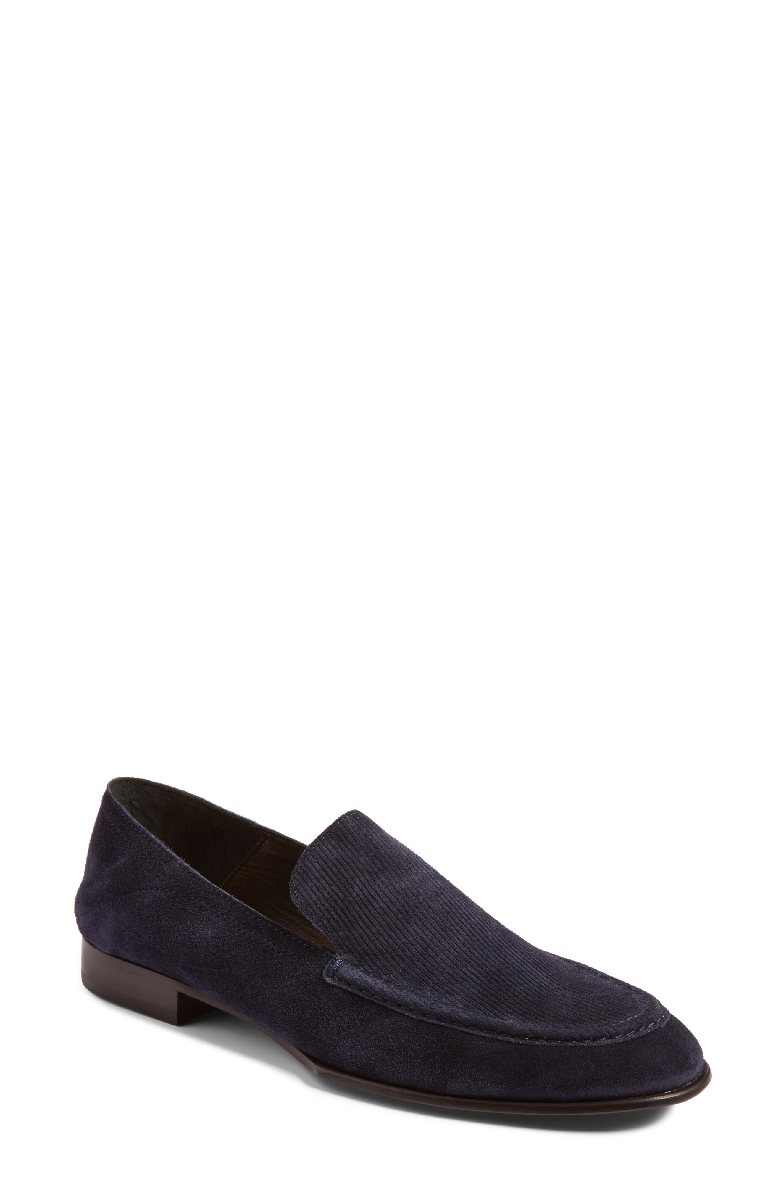 Alix Convertible Loafer,                         Main,                         color, Navy Suede