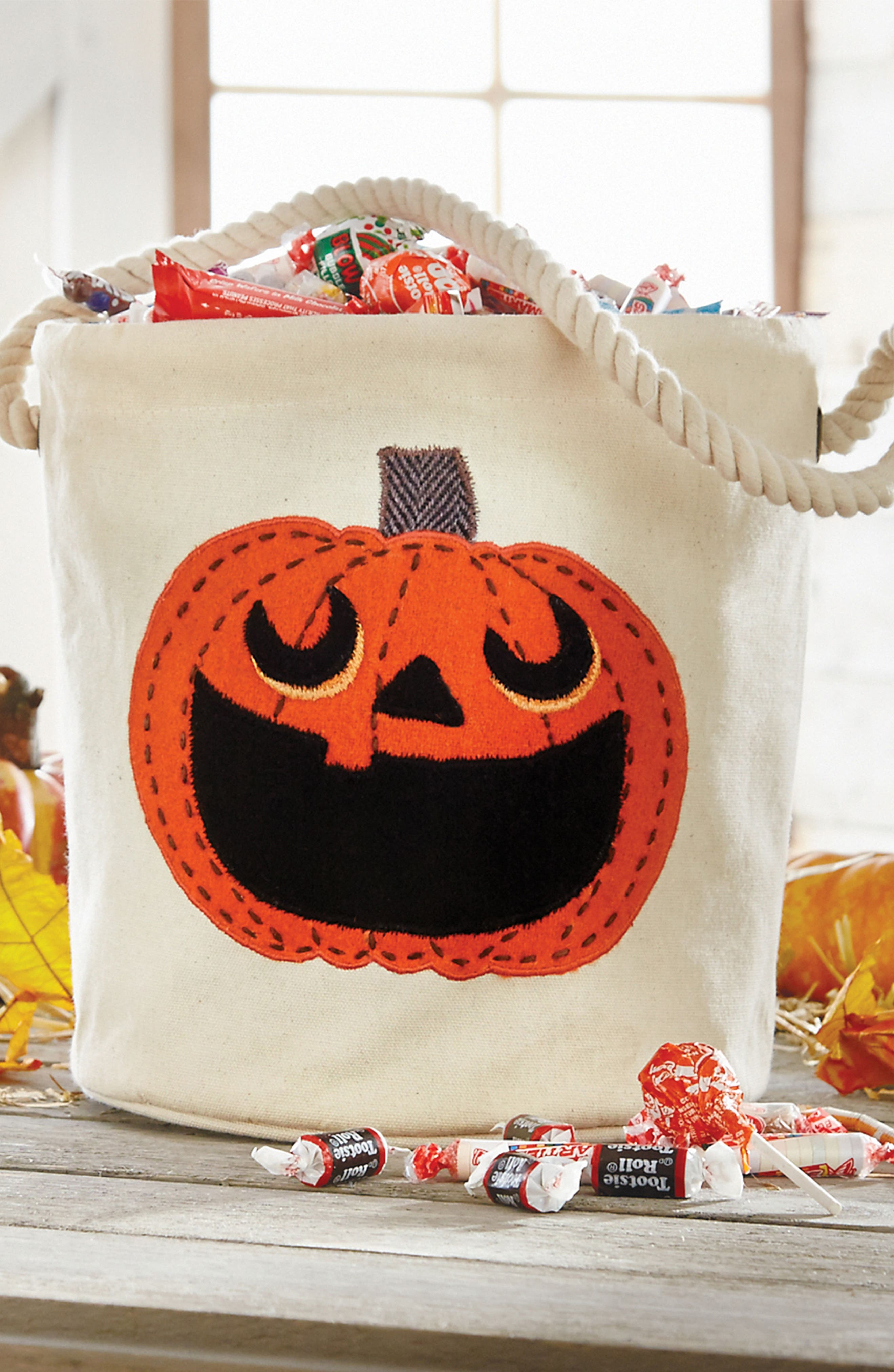 Pumpkin Bucket Tote,                             Alternate thumbnail 2, color,                             Ivory