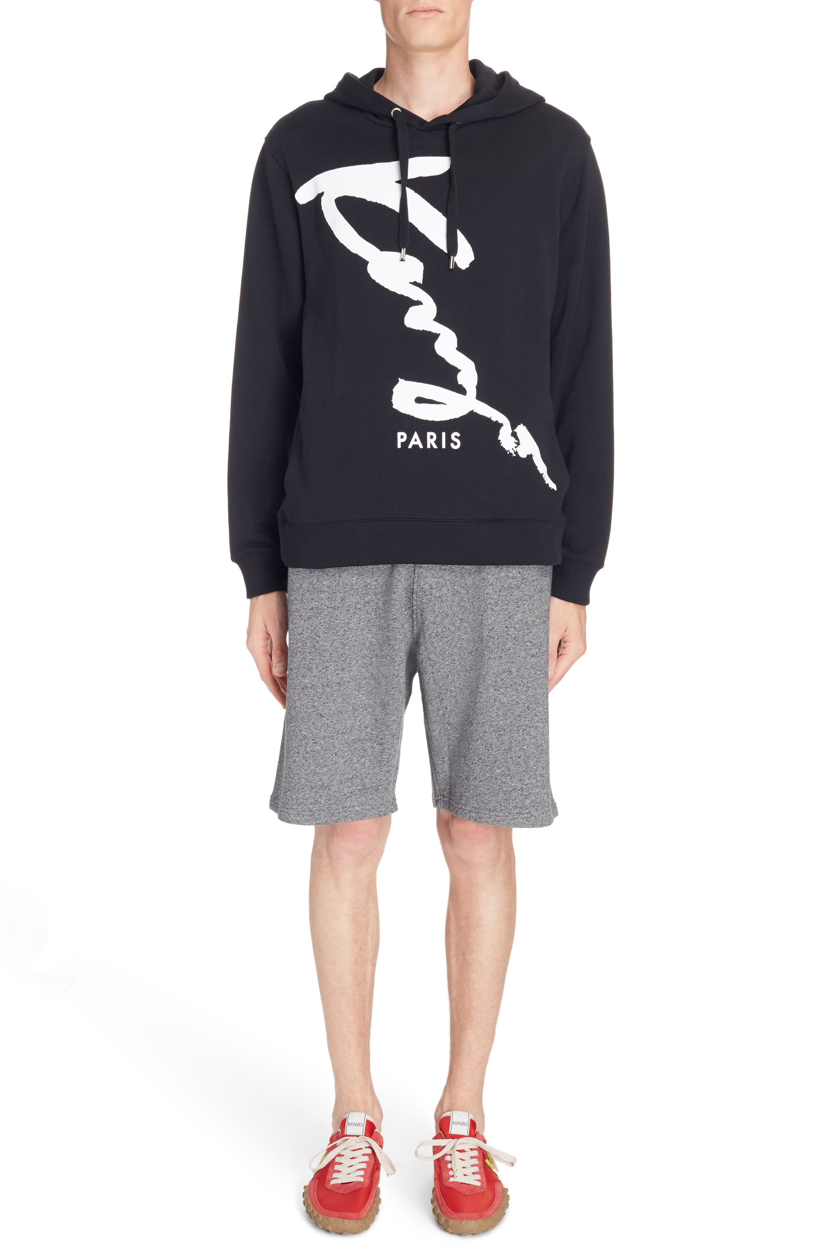 Alternate Image 6  - KENZO Cursive Logo Graphic Hoodie