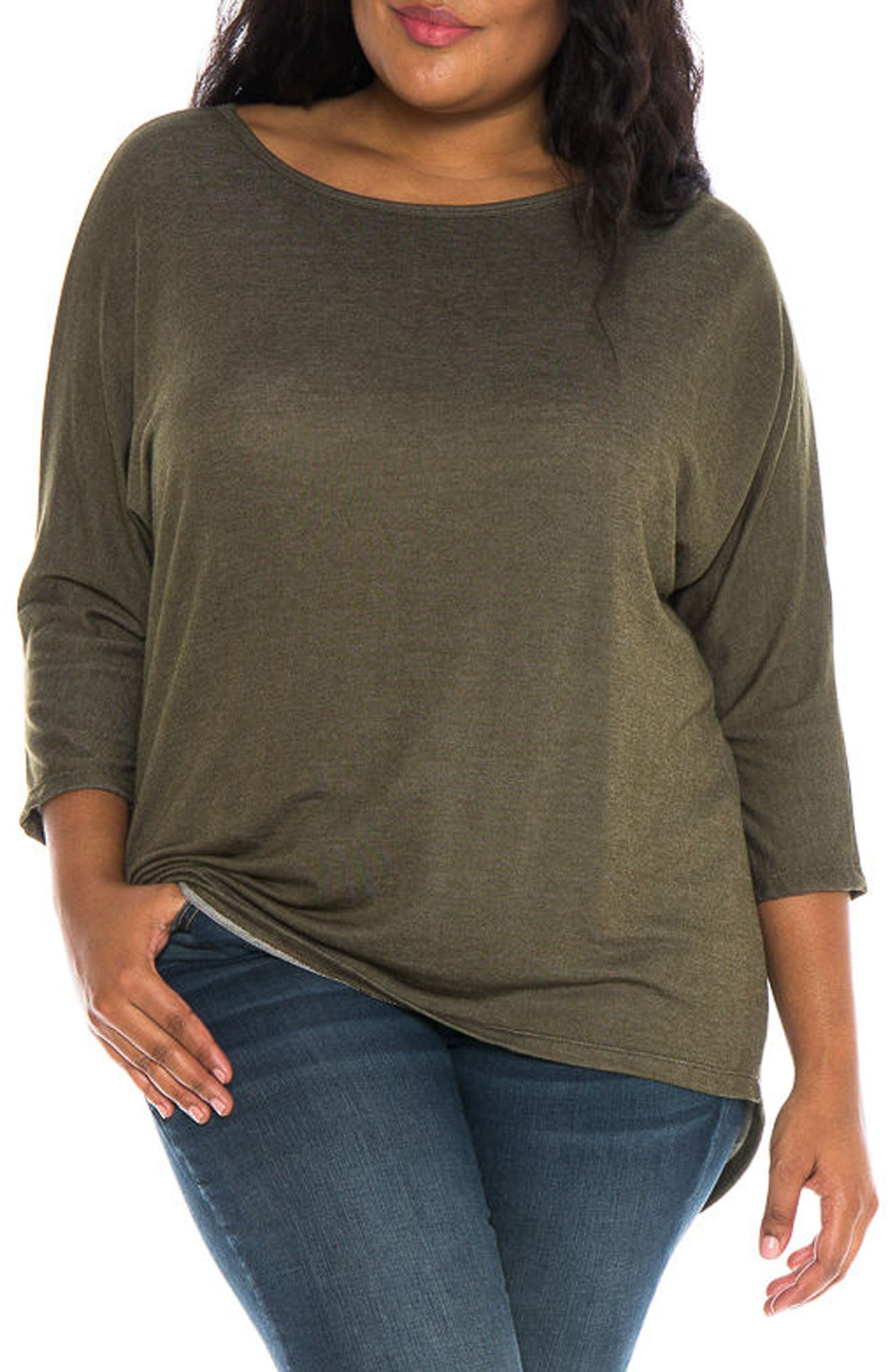 Main Image - SLINK Jeans Dolman Sleeve Top (Plus Size)