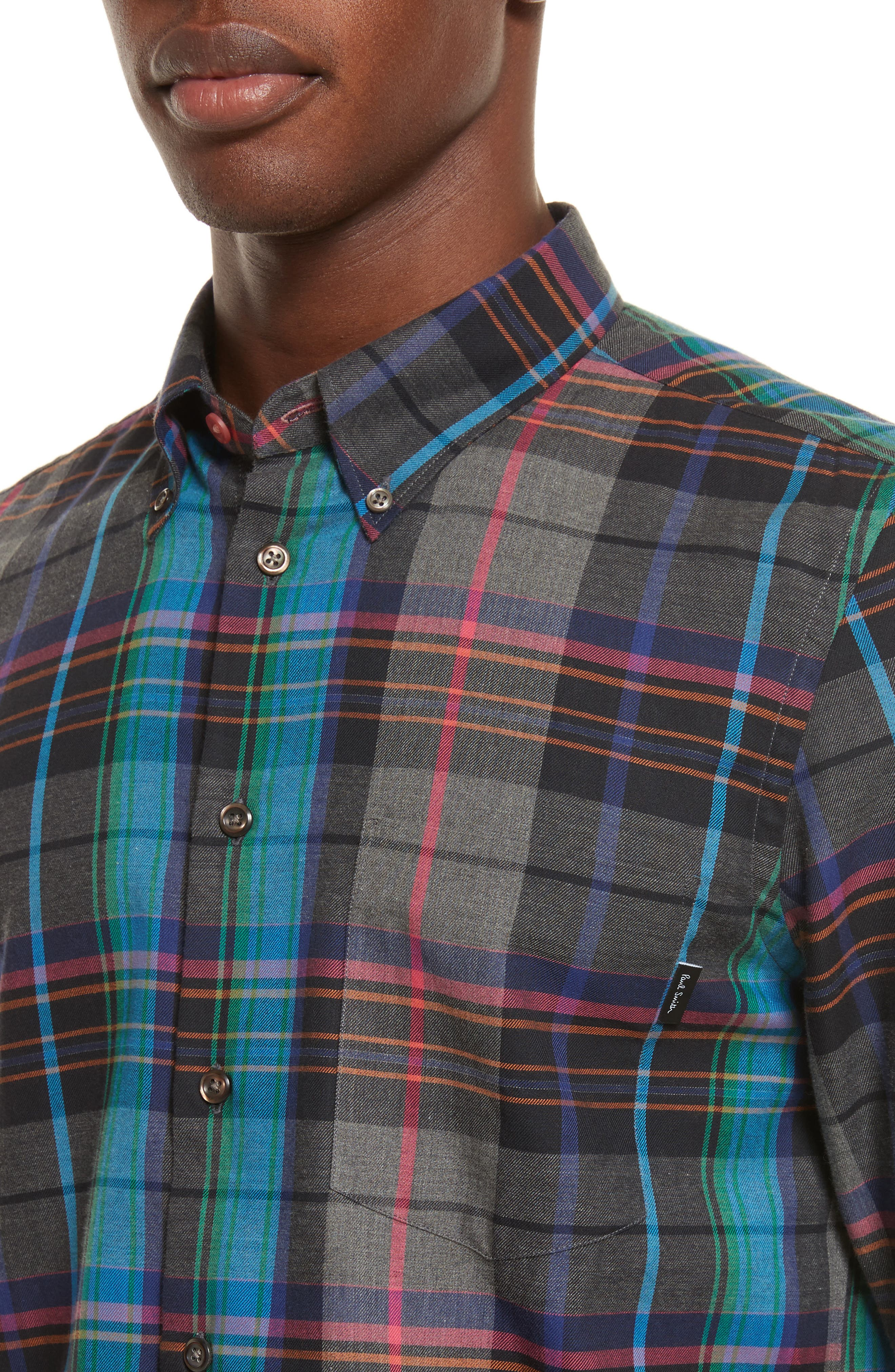 Alternate Image 4  - PS Paul Smith Plaid Woven Shirt