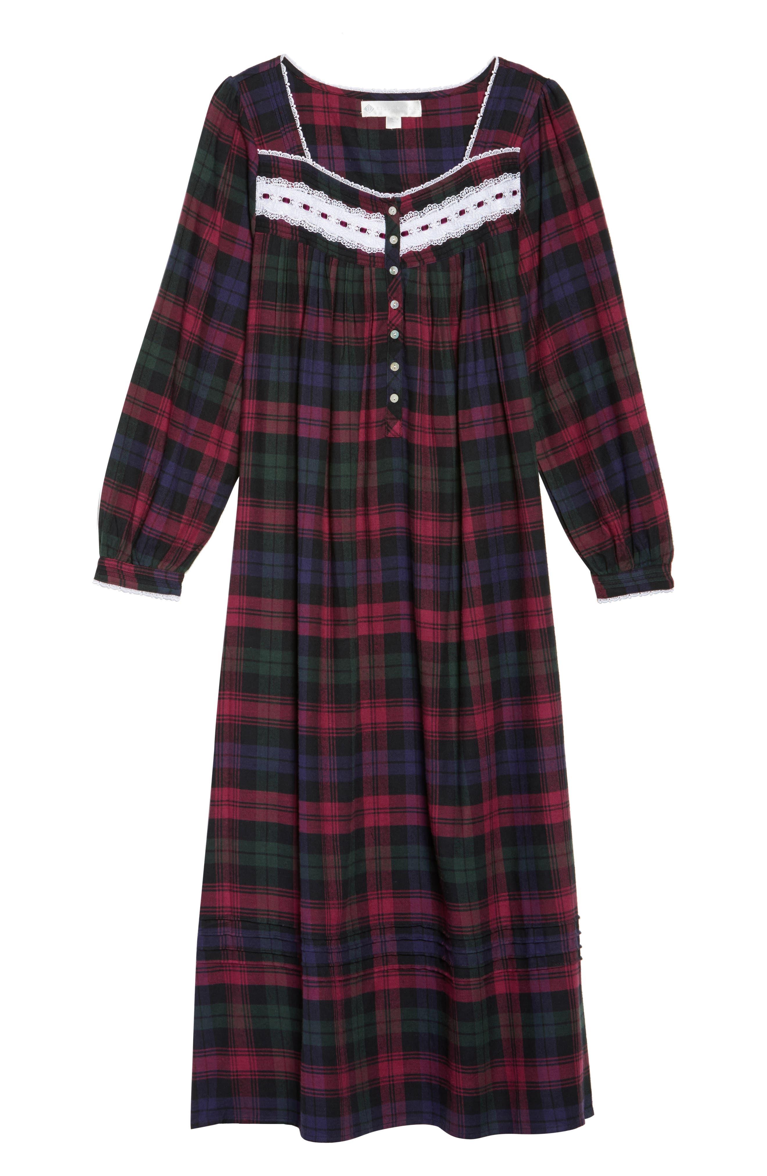 Alternate Image 4  - Eileen West Ballet Flannel Nightgown