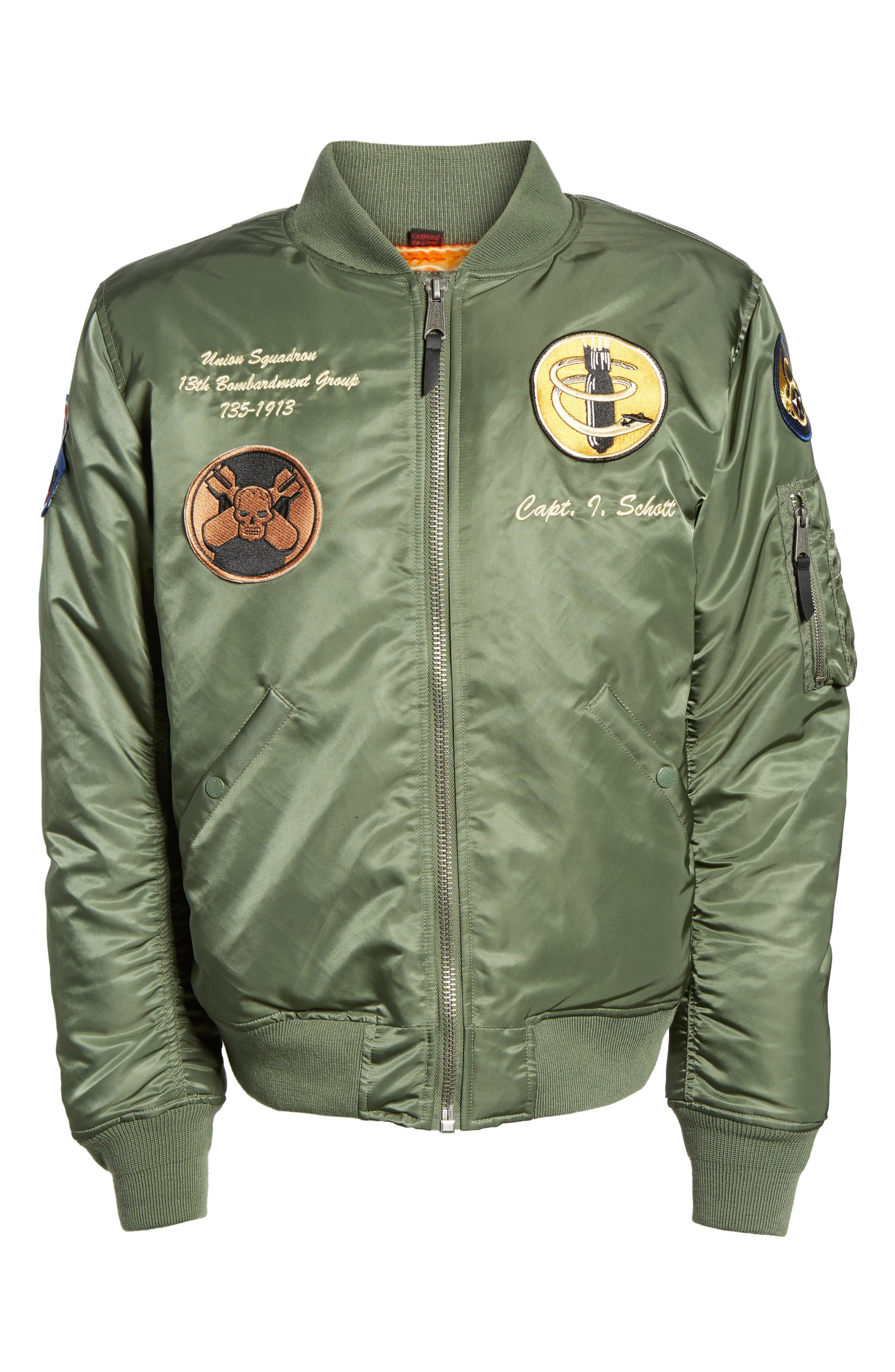 Highly Decorated Embroidered Flight Jacket,                             Alternate thumbnail 6, color,                             Sage