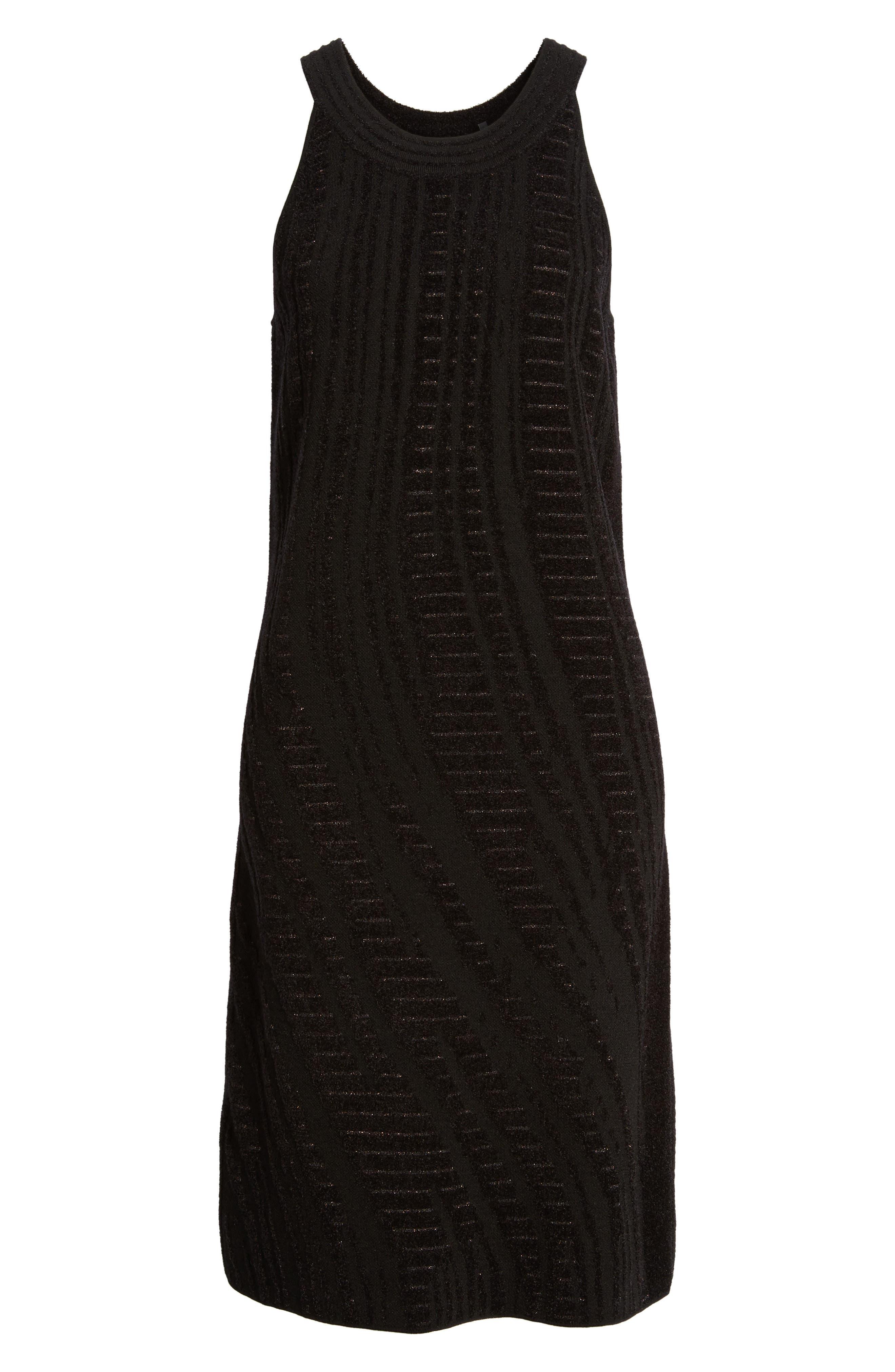Winter Reign Dress,                             Alternate thumbnail 6, color,                             Black Multi