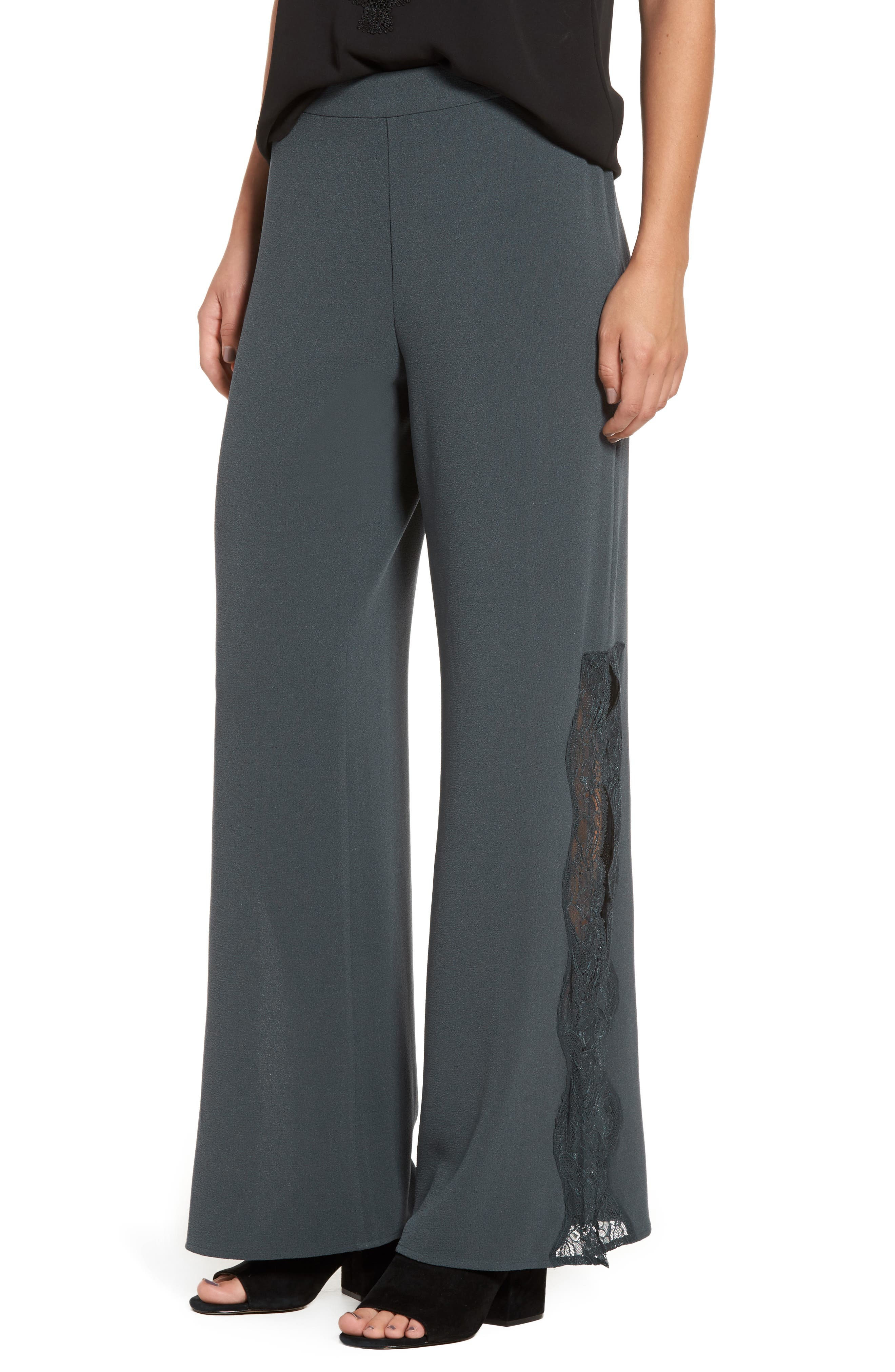Leith Lace Trim Slit Pants