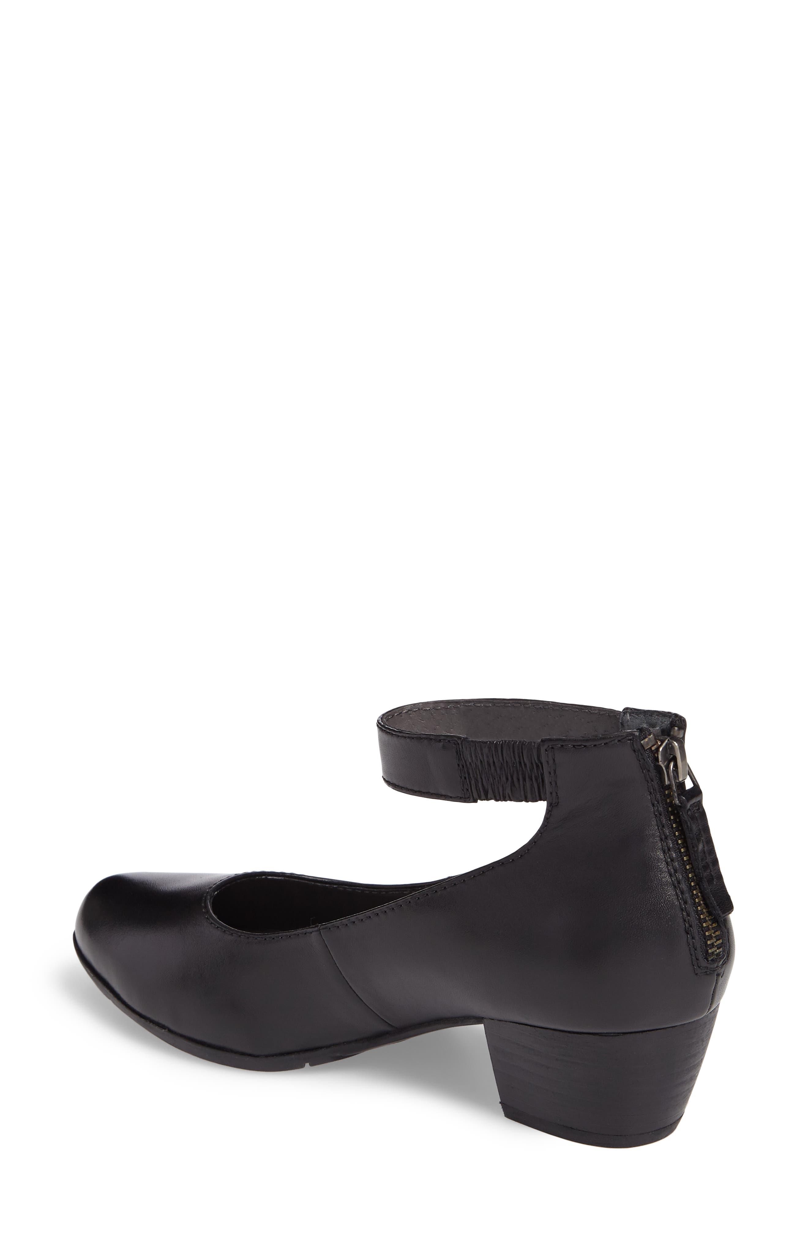 Sue 09 Ankle Strap Pump,                             Alternate thumbnail 2, color,                             Black Leather