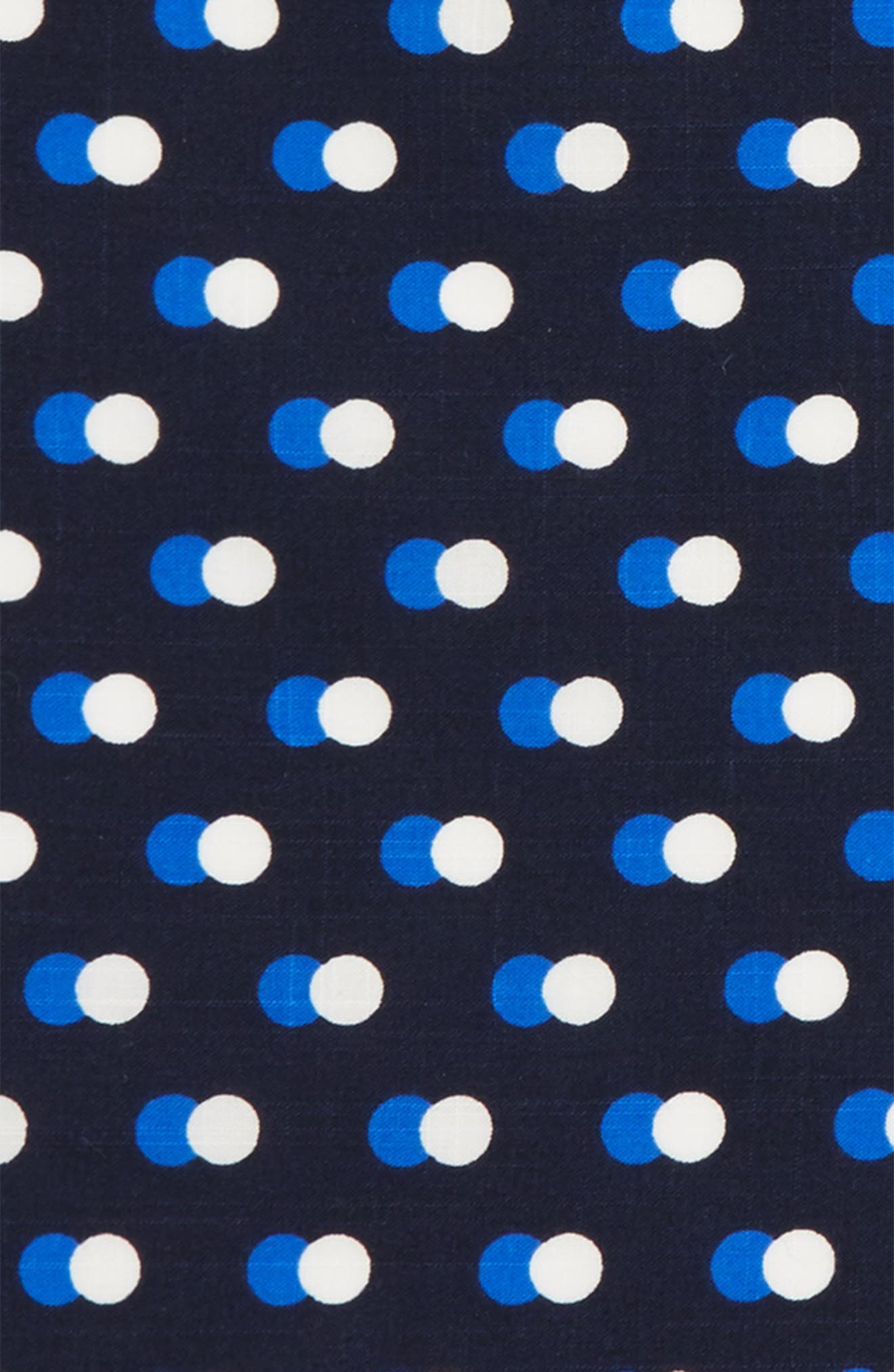 Multi Dots Cotton Pocket Square,                             Alternate thumbnail 3, color,                             Blue