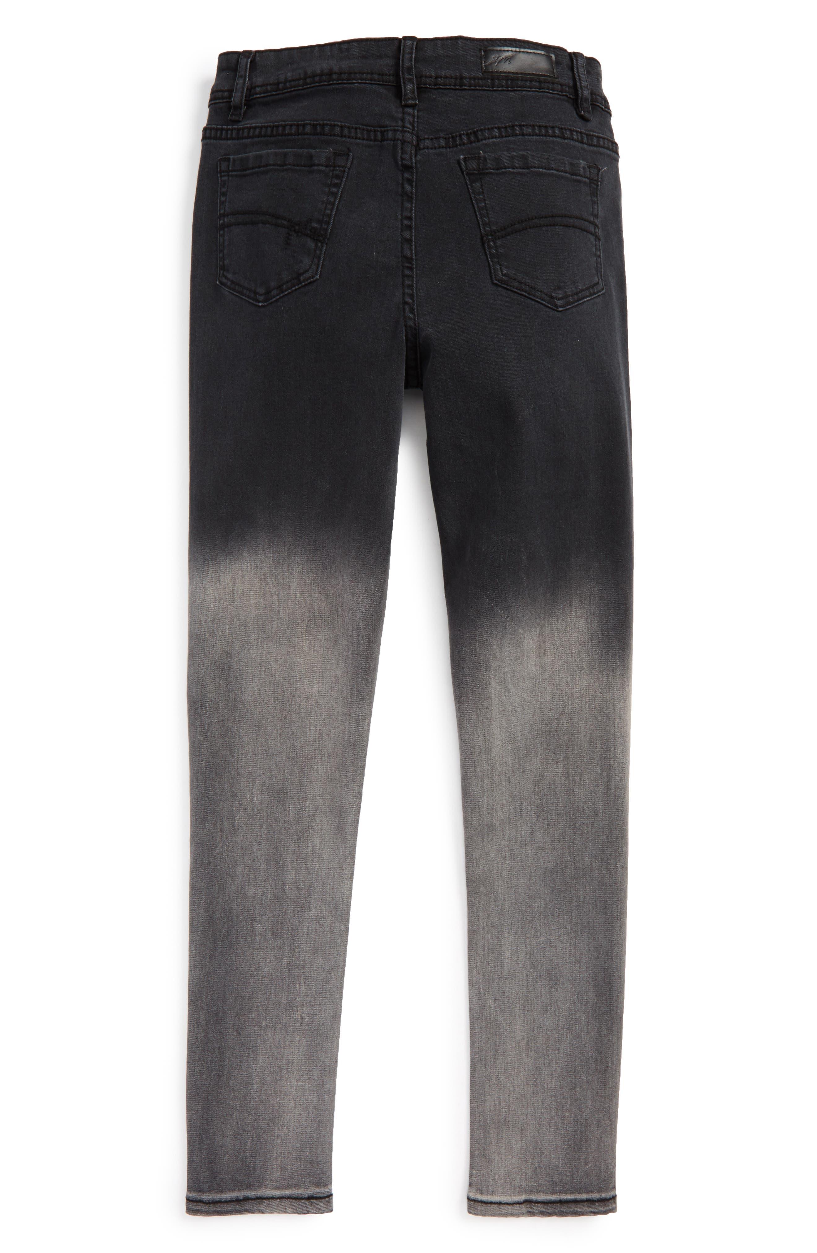 Alternate Image 2  - Maddie Ombré Skinny Jeans (Big Girls)