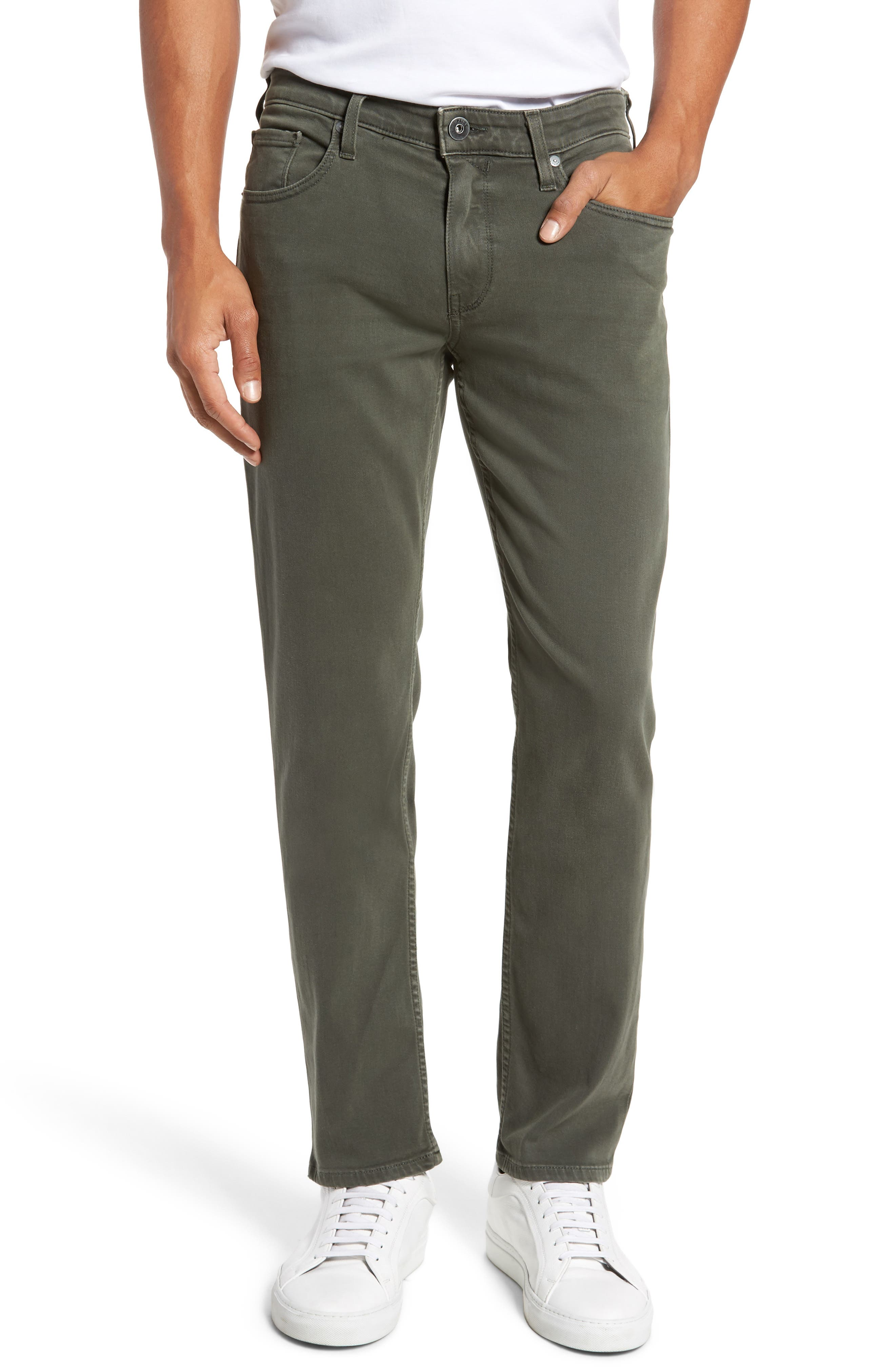 Main Image - PAIGE Transcend - Federal Slim Straight Leg Jeans (Vintage Green Fields)