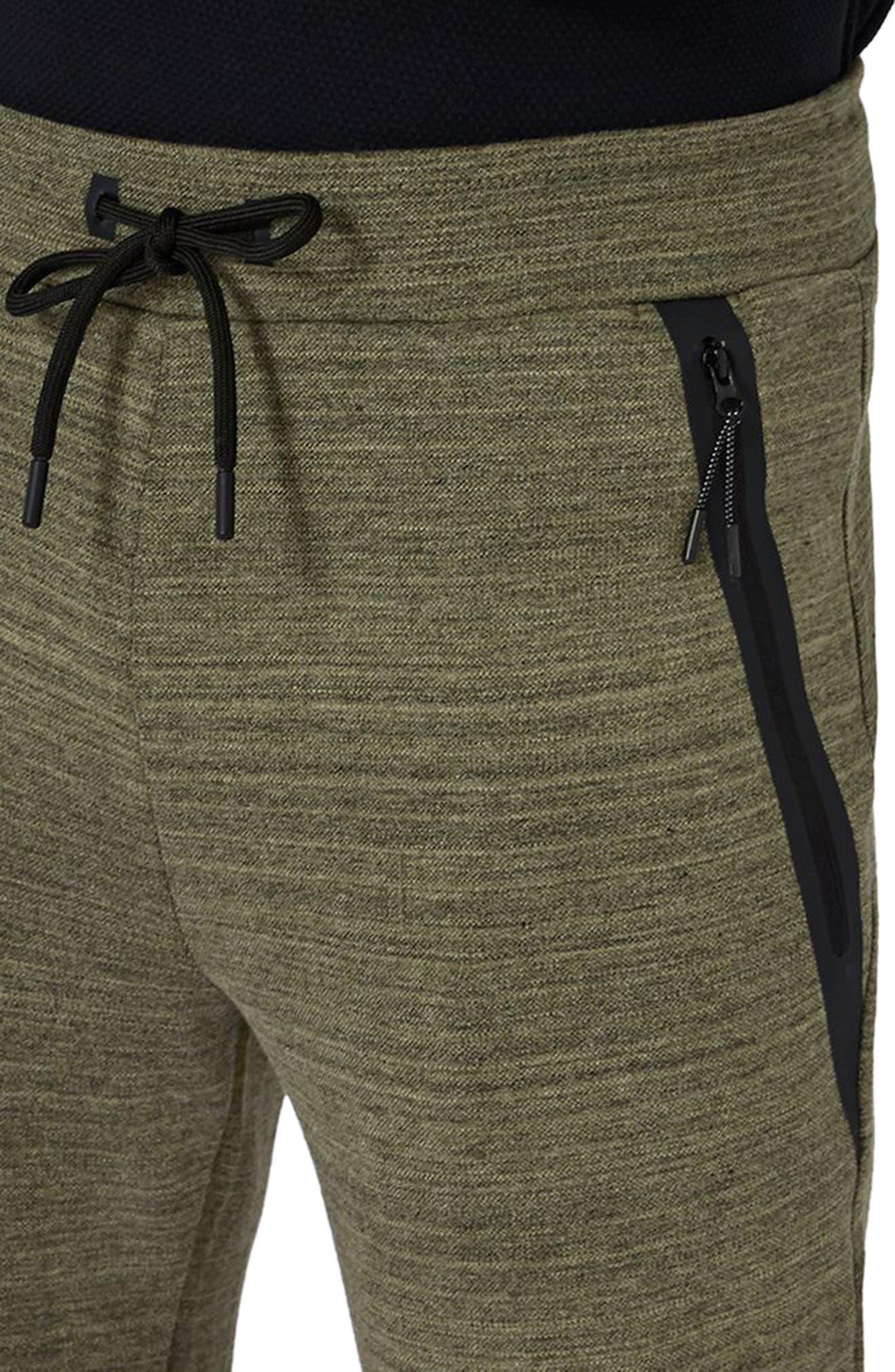 Zip Detail Skinny Jogger Pants,                             Alternate thumbnail 3, color,                             Olive