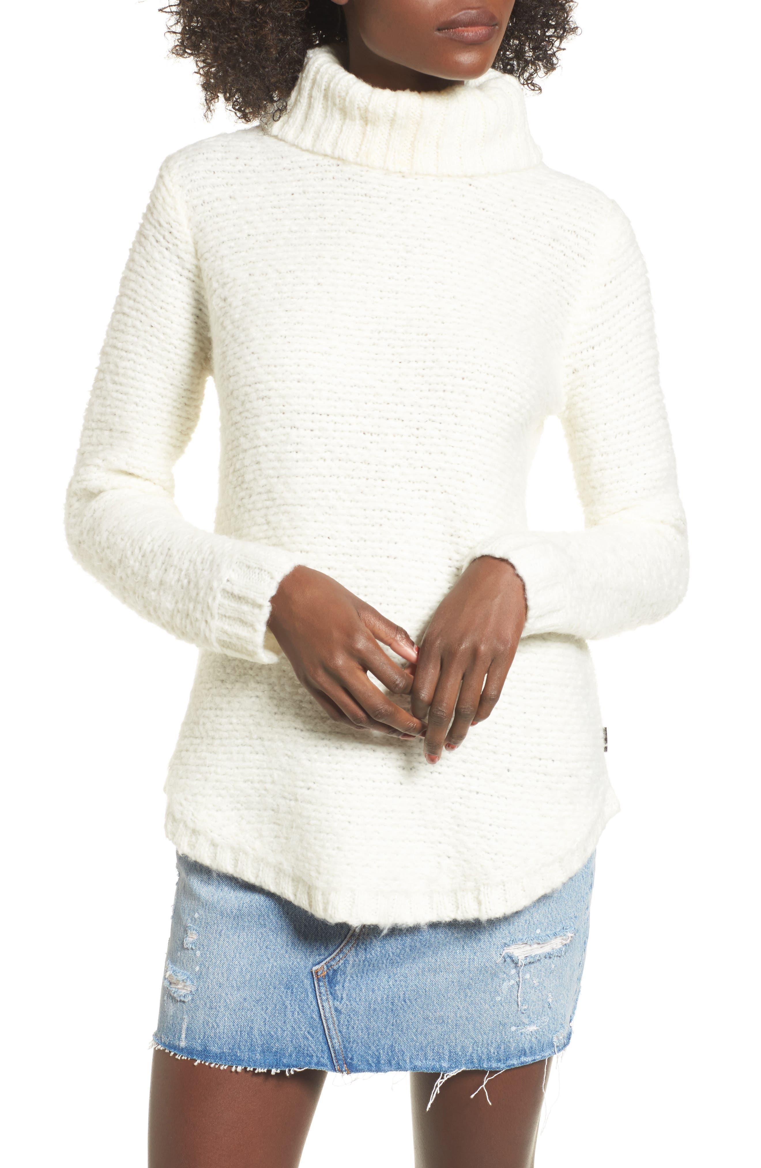 Kinks Turtleneck Sweater,                             Main thumbnail 1, color,                             Vintage White