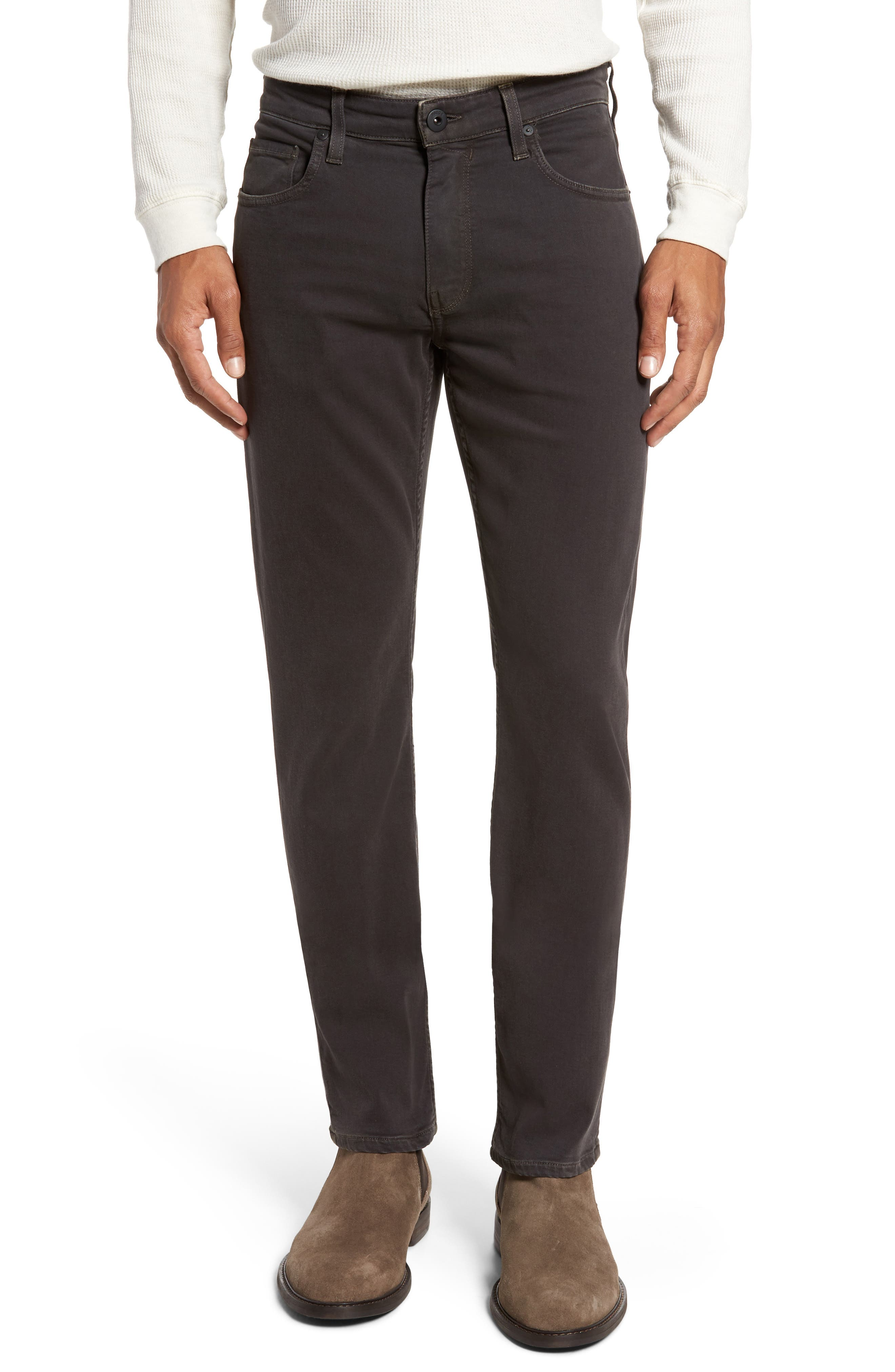 Main Image - PAIGE Transcend - Federal Slim Straight Leg Jeans (Vintage Black Fade)