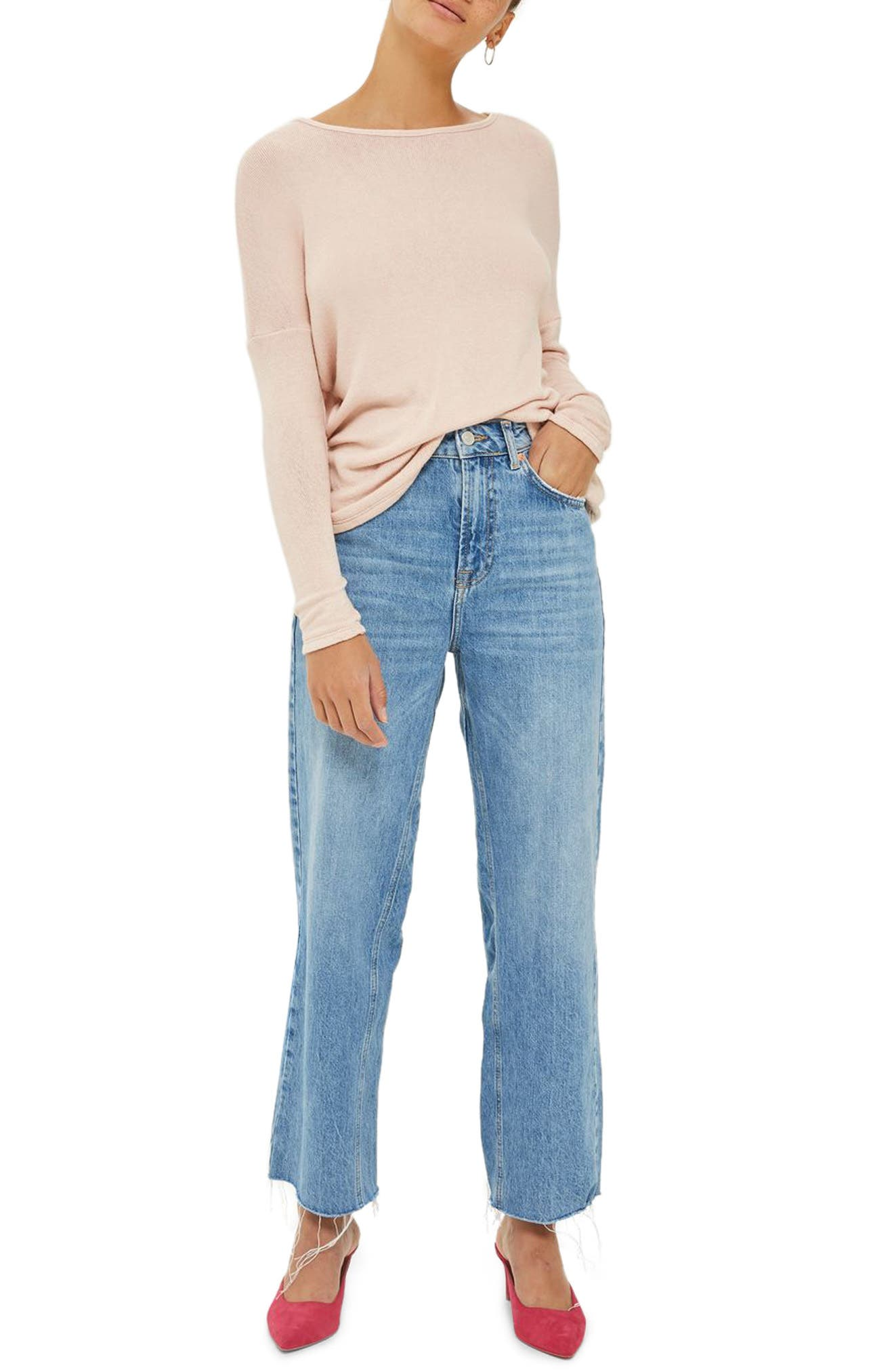 Alternate Image 1 Selected - Topshop Tie Back Sweater