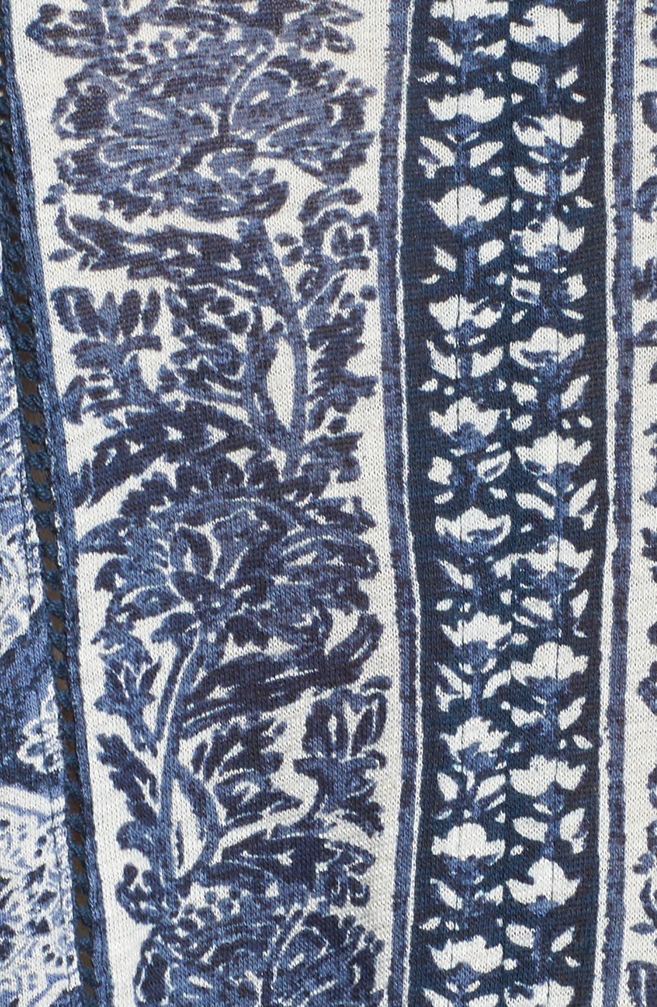 Alternate Image 5  - Lukcy Brand Beaded Mixed Print Top (Plus Size)