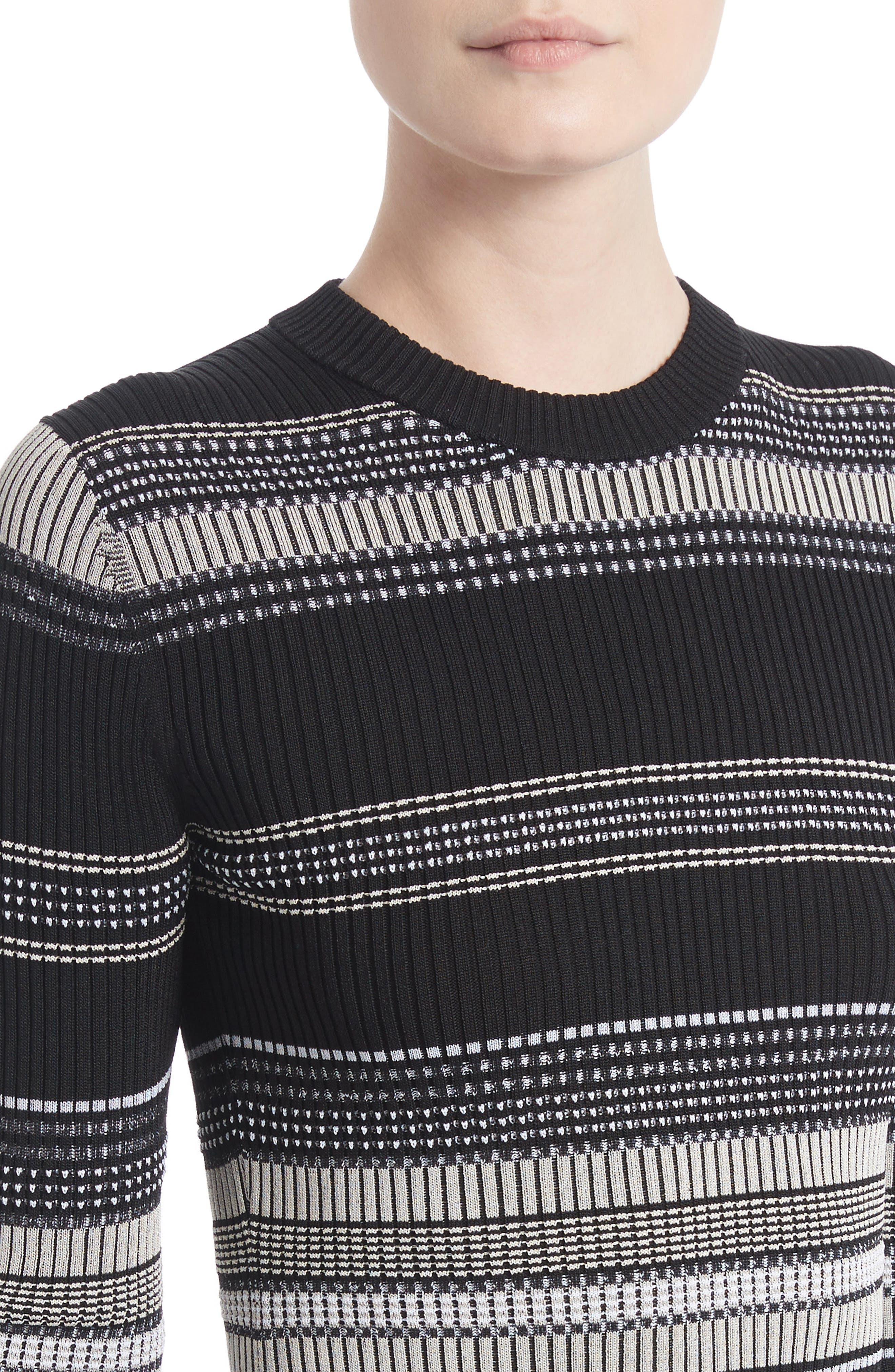 Alternate Image 4  - Proenza Schouler Stripe Rib Knit Top
