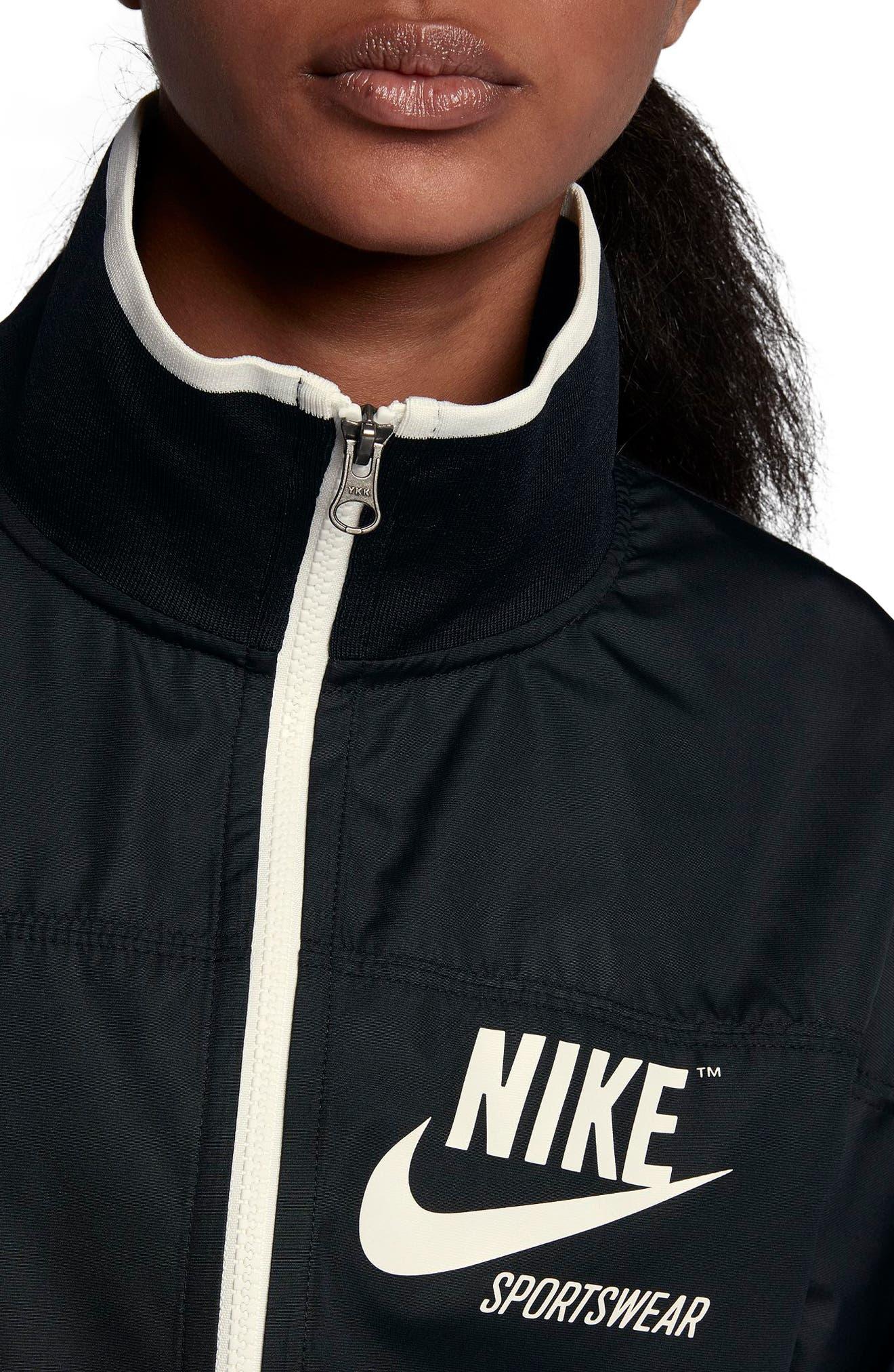Sportswear Archive Jacket,                             Alternate thumbnail 4, color,                             Black/ Sail
