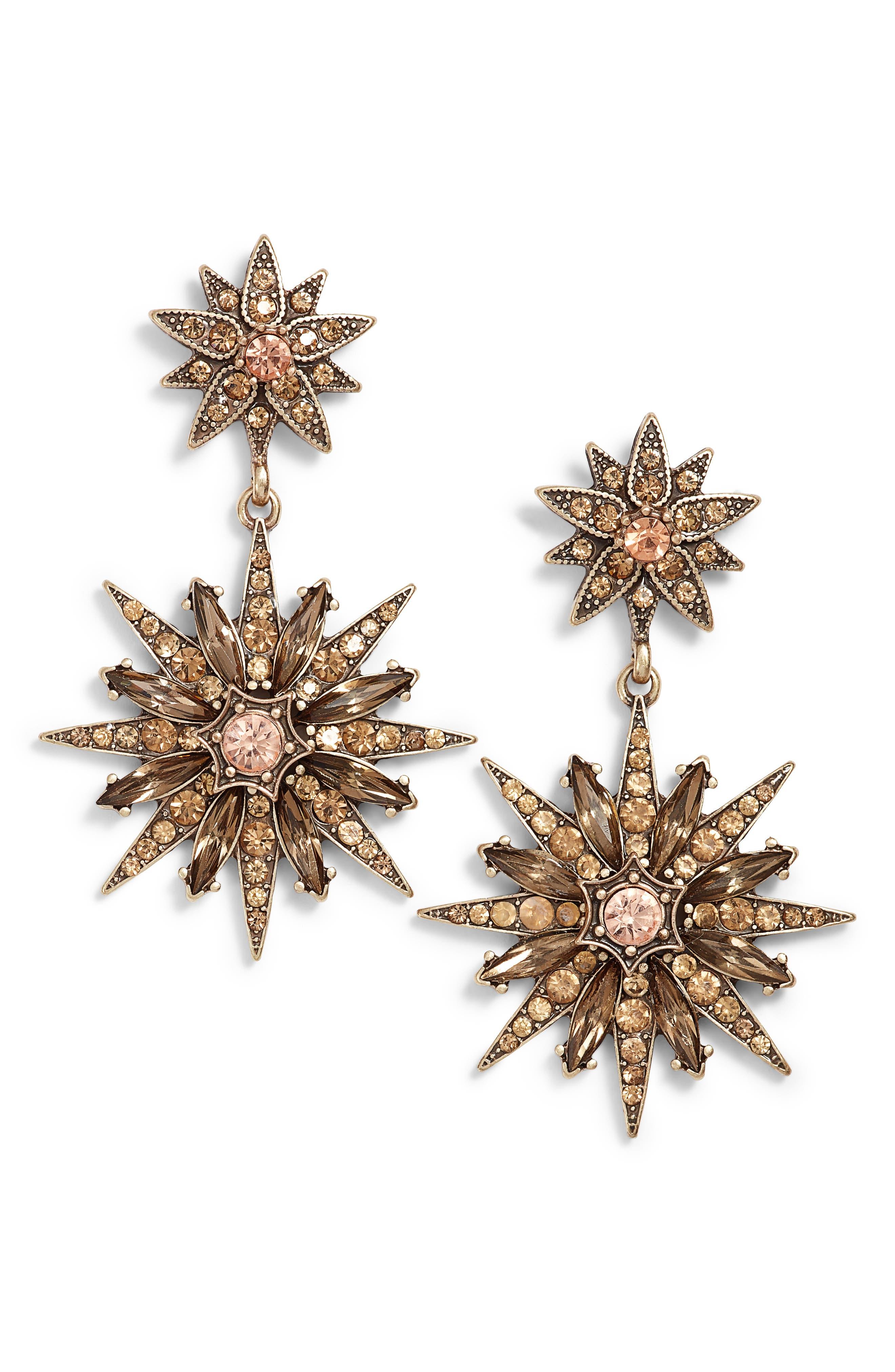 Alternate Image 1 Selected - Sole Society Starburst Drop Earrings