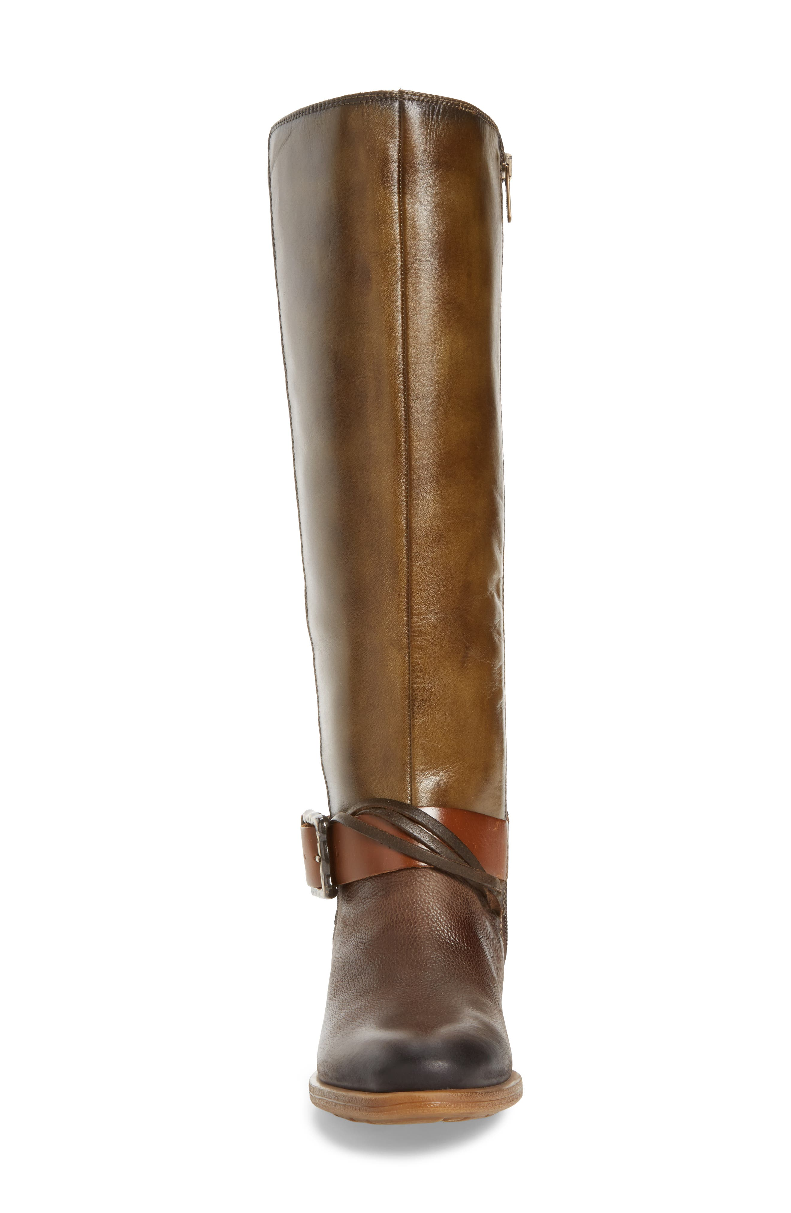 Baqueira Water Resistant Tall Boot,                             Alternate thumbnail 4, color,                             Seaweed Leather