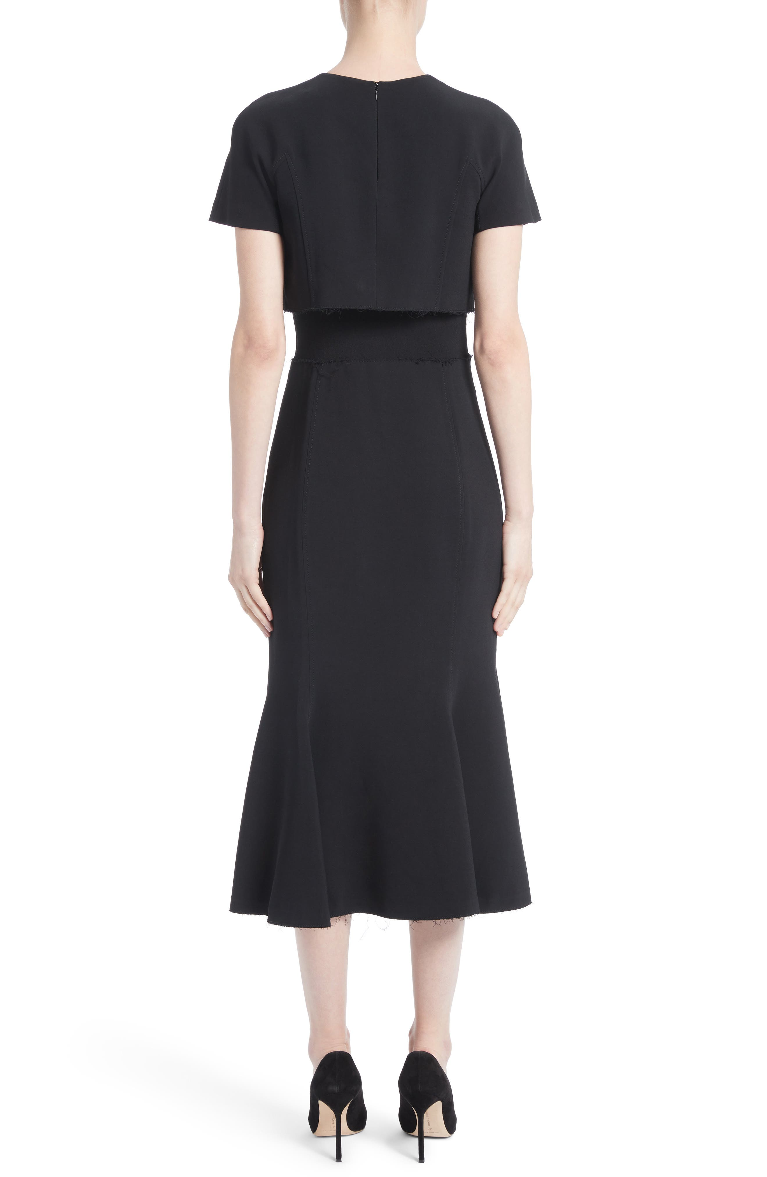 Alternate Image 2  - Proenza Schouler Raw Hem Panel Cady Dress