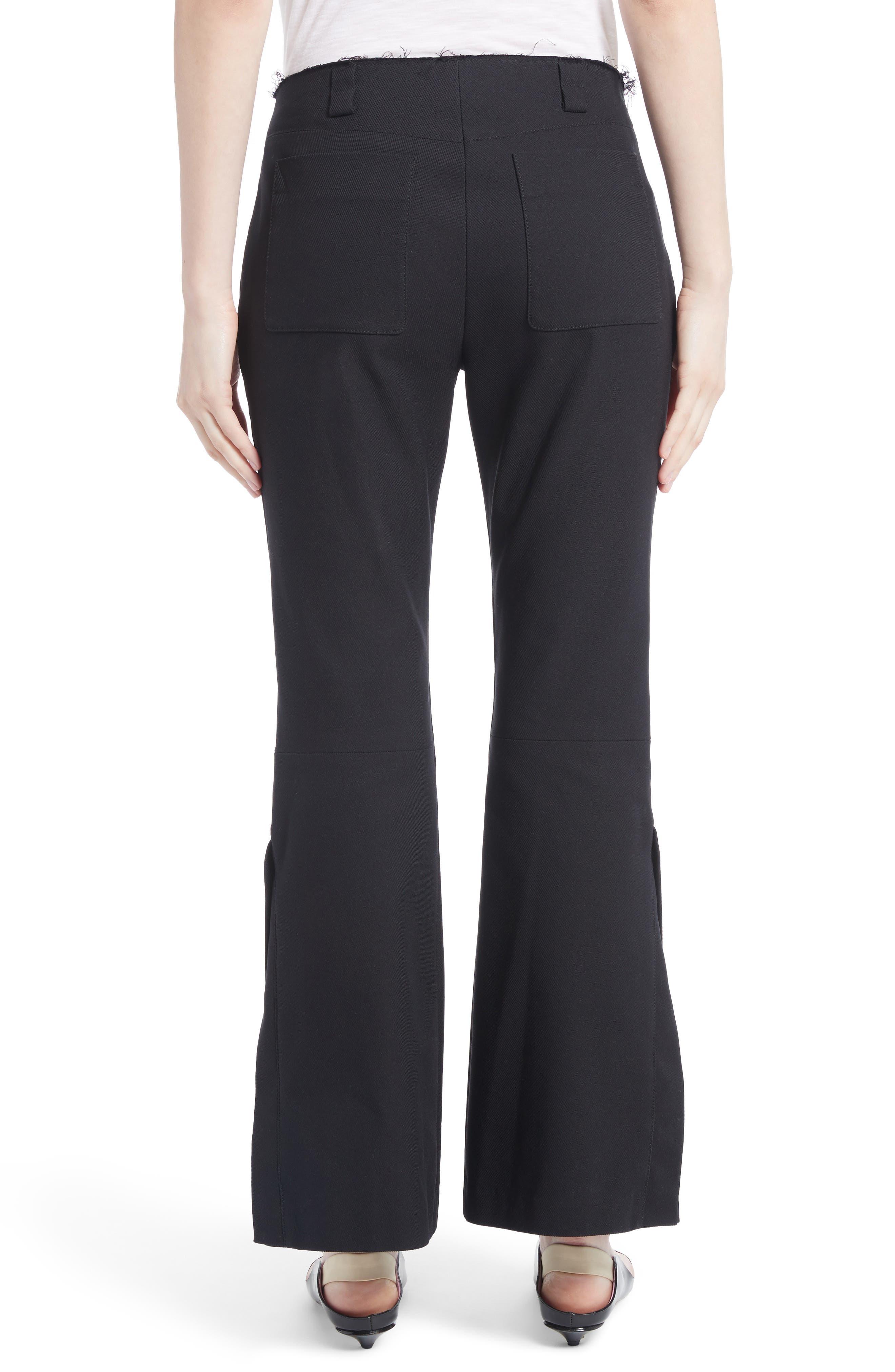 Alternate Image 2  - Proenza Schouler Stretch Cotton Blend Flare Pants