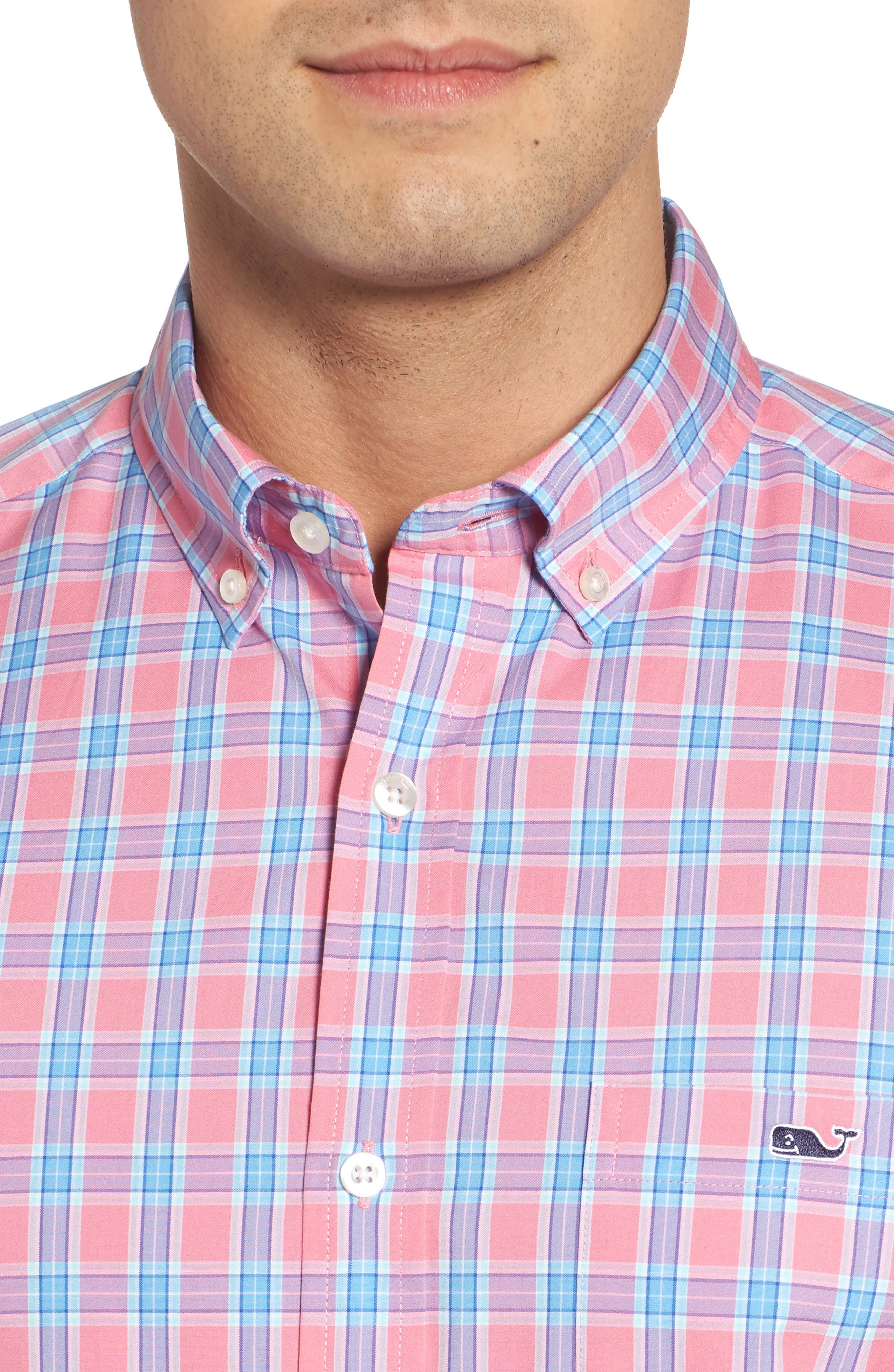 Alternate Image 4  - vineyard vines Tucker Bayard Classic Fit Plaid Sport Shirt