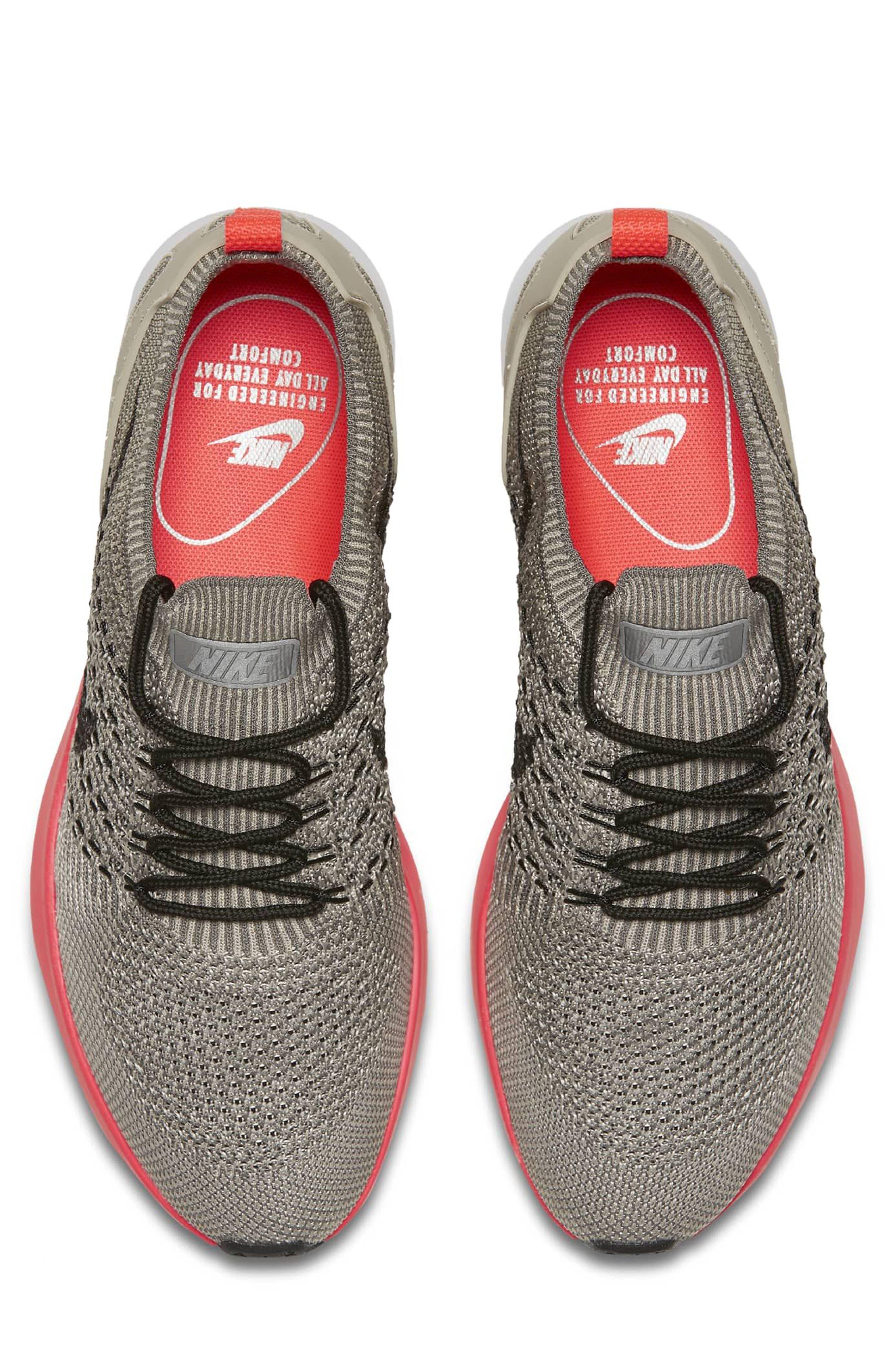 Air Zoom Mariah Flyknit Racer Sneaker,                             Alternate thumbnail 3, color,                             String/ Black/ White