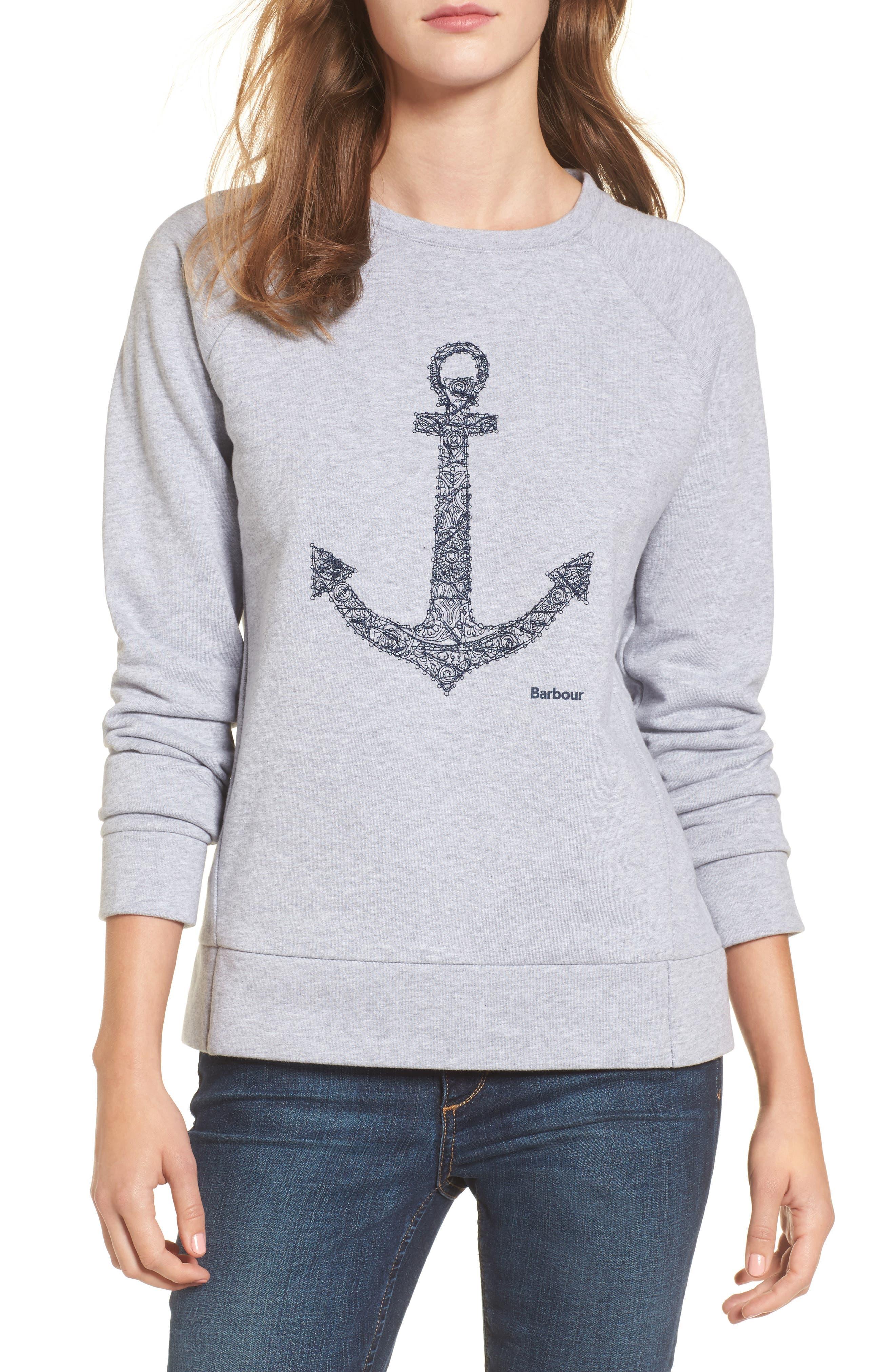 Wester Sweatshirt,                         Main,                         color, Light Grey
