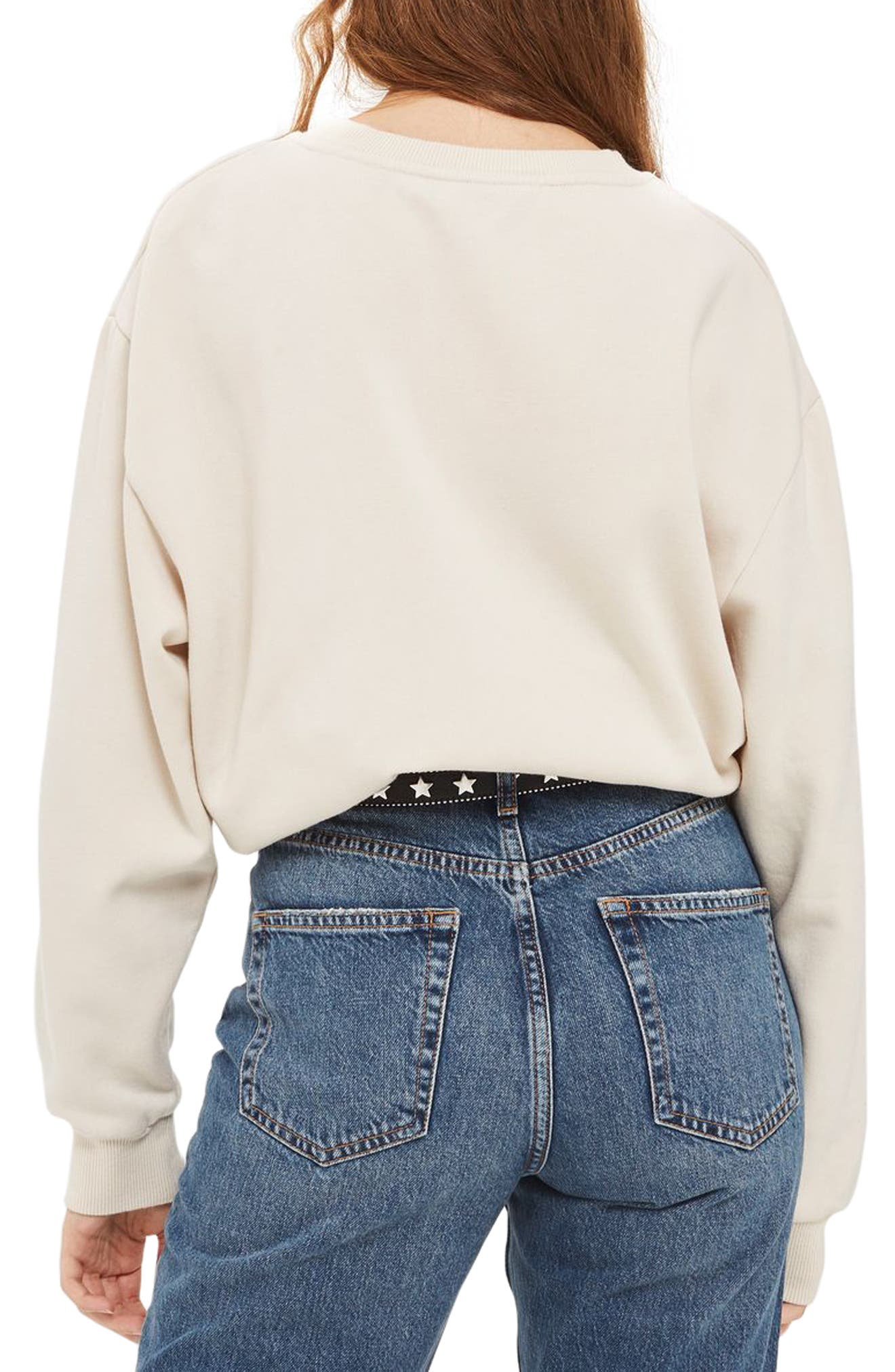 Alternate Image 3  - Topshop Sloppy Sweatshirt