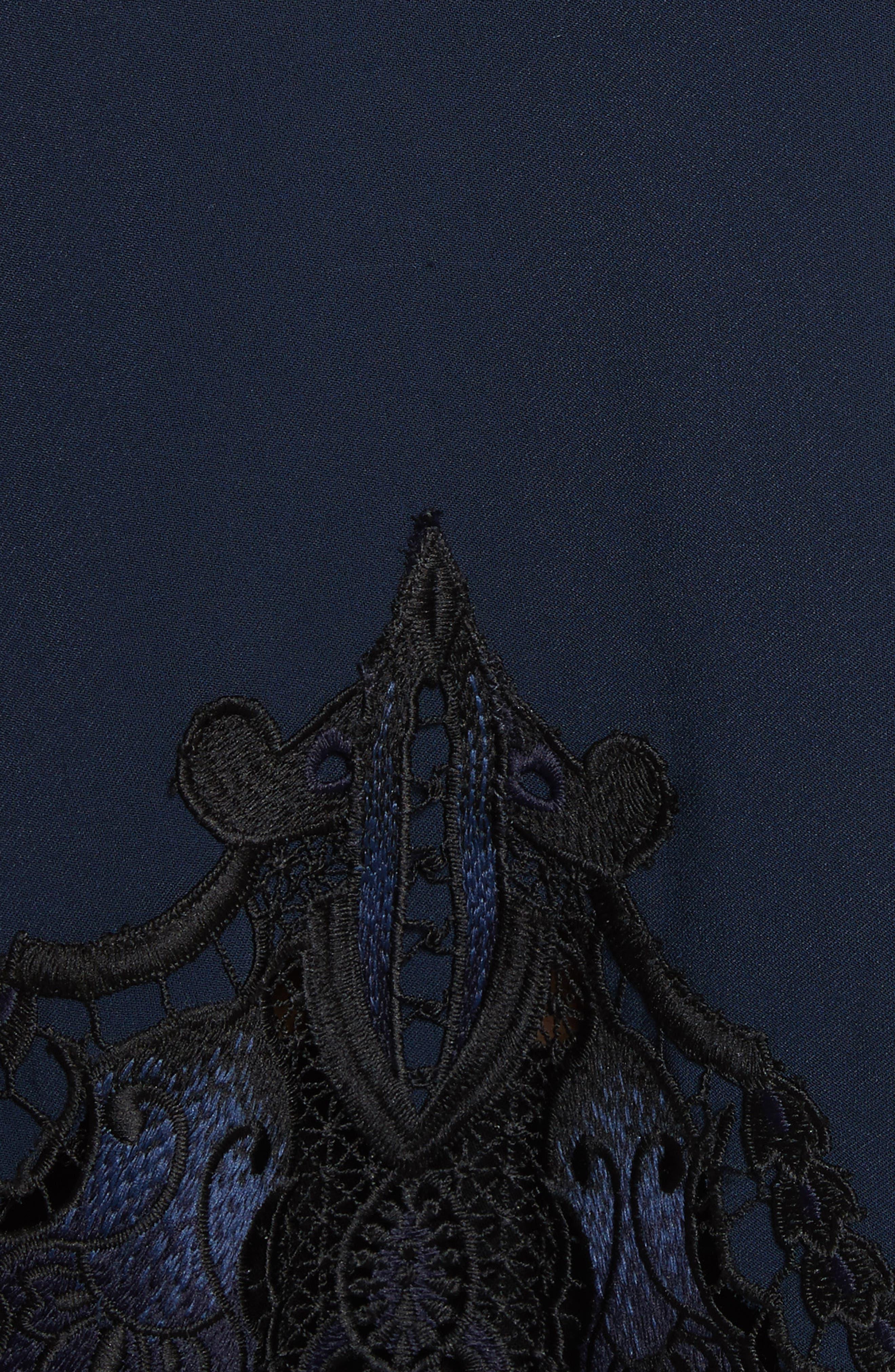 Alternate Image 5  - Jonathan Simkhai Crepe Appliqué Blouse
