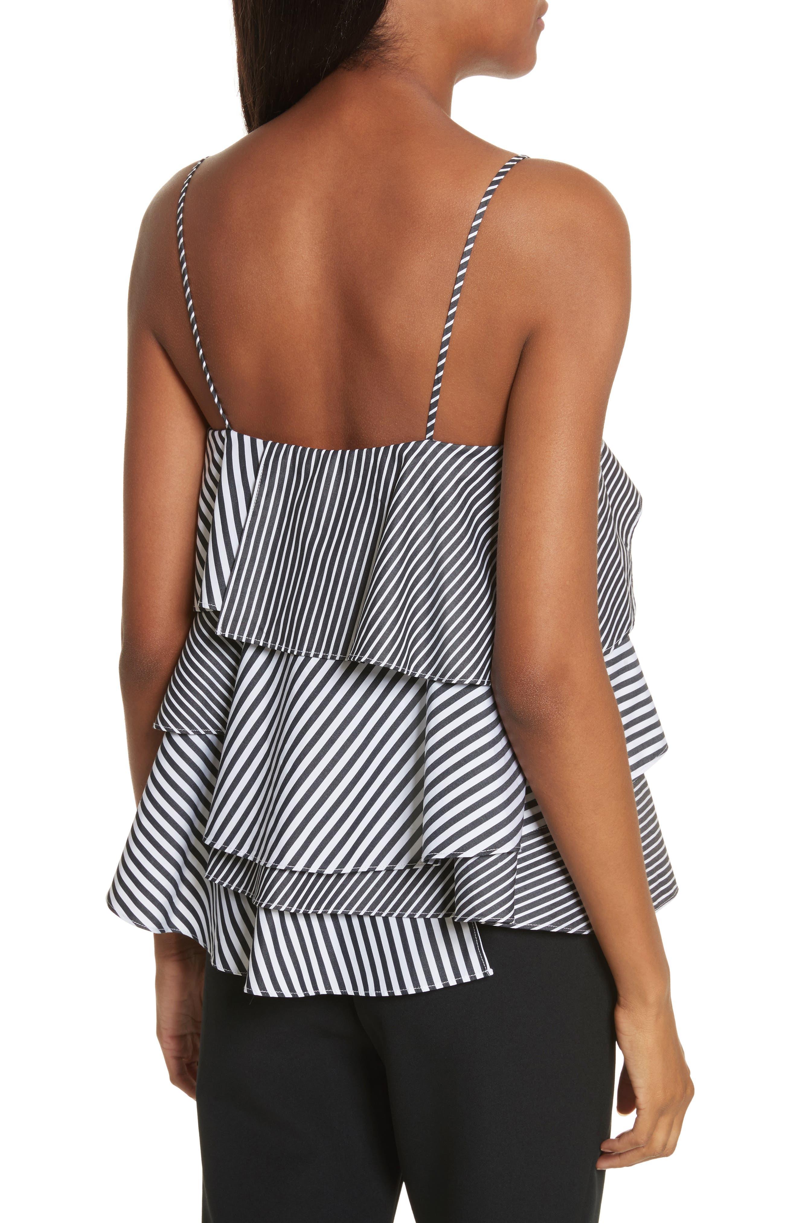 Emma Stripe Shirting Top,                             Alternate thumbnail 2, color,                             Black