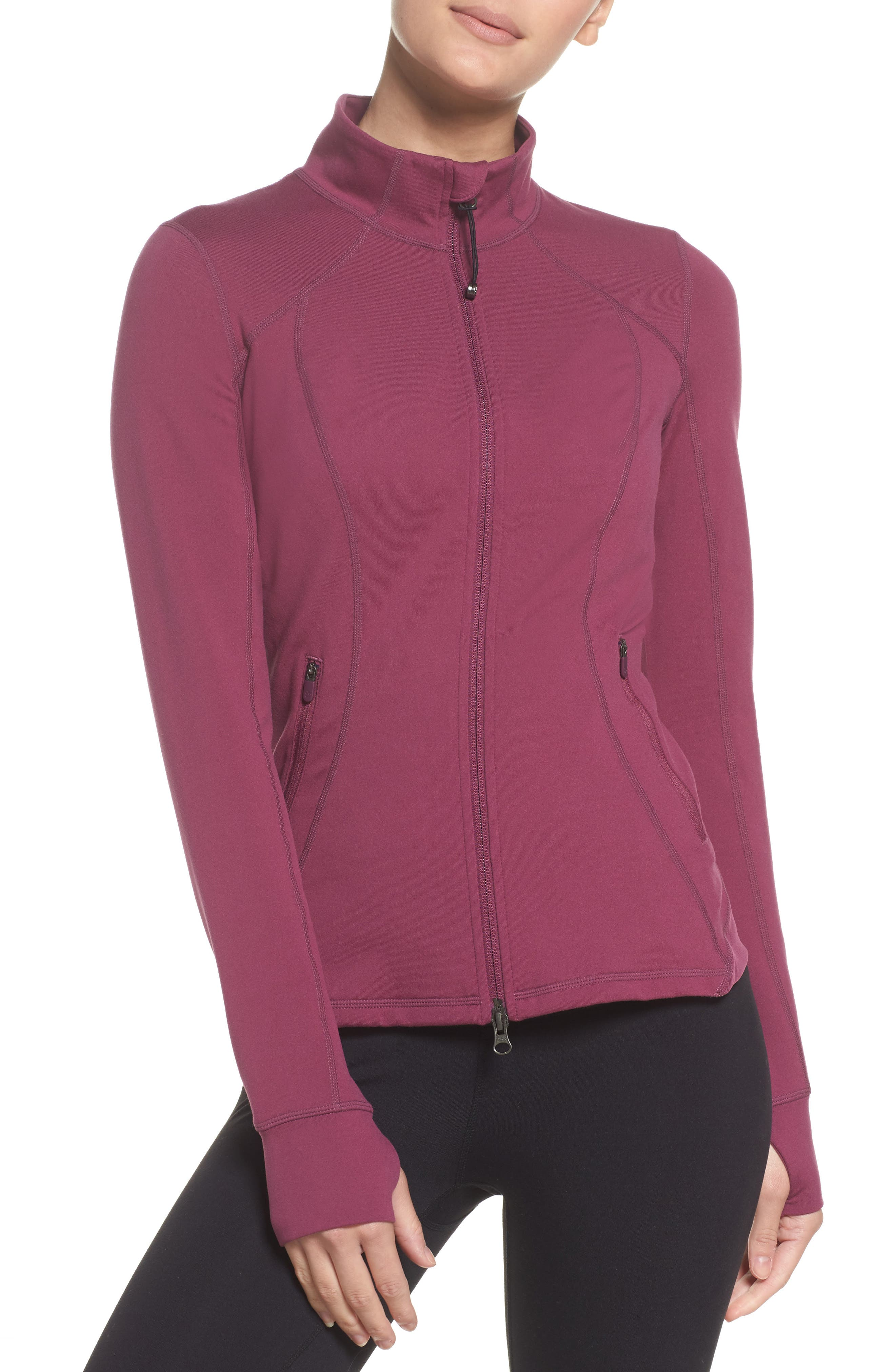 Presence Training Jacket,                             Main thumbnail 1, color,                             Purple Cabbage