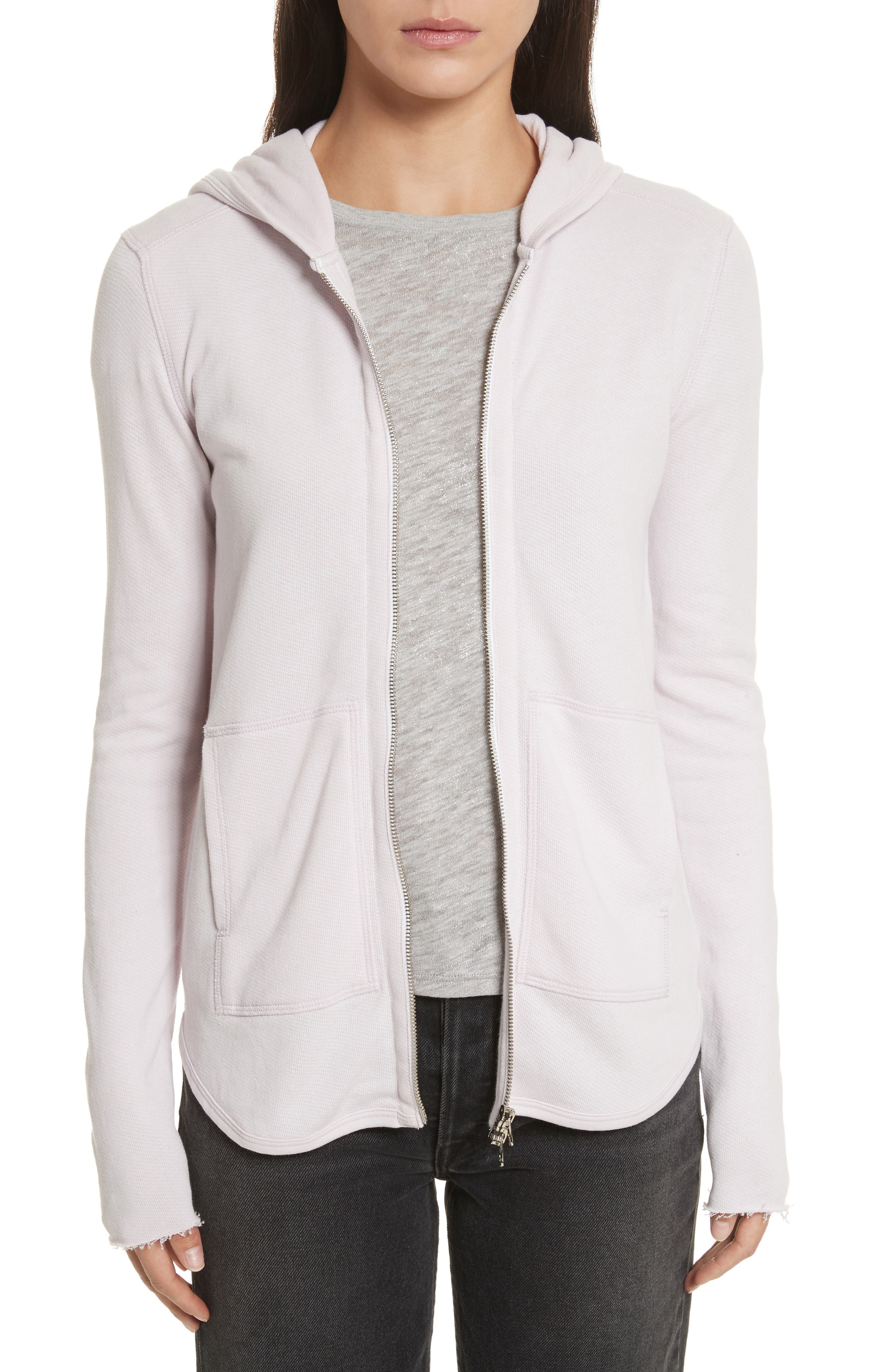 Alternate Image 1 Selected - ATM Anthony Thomas Melillo Front Zip Hoodie (Nordstrom Exclusive)