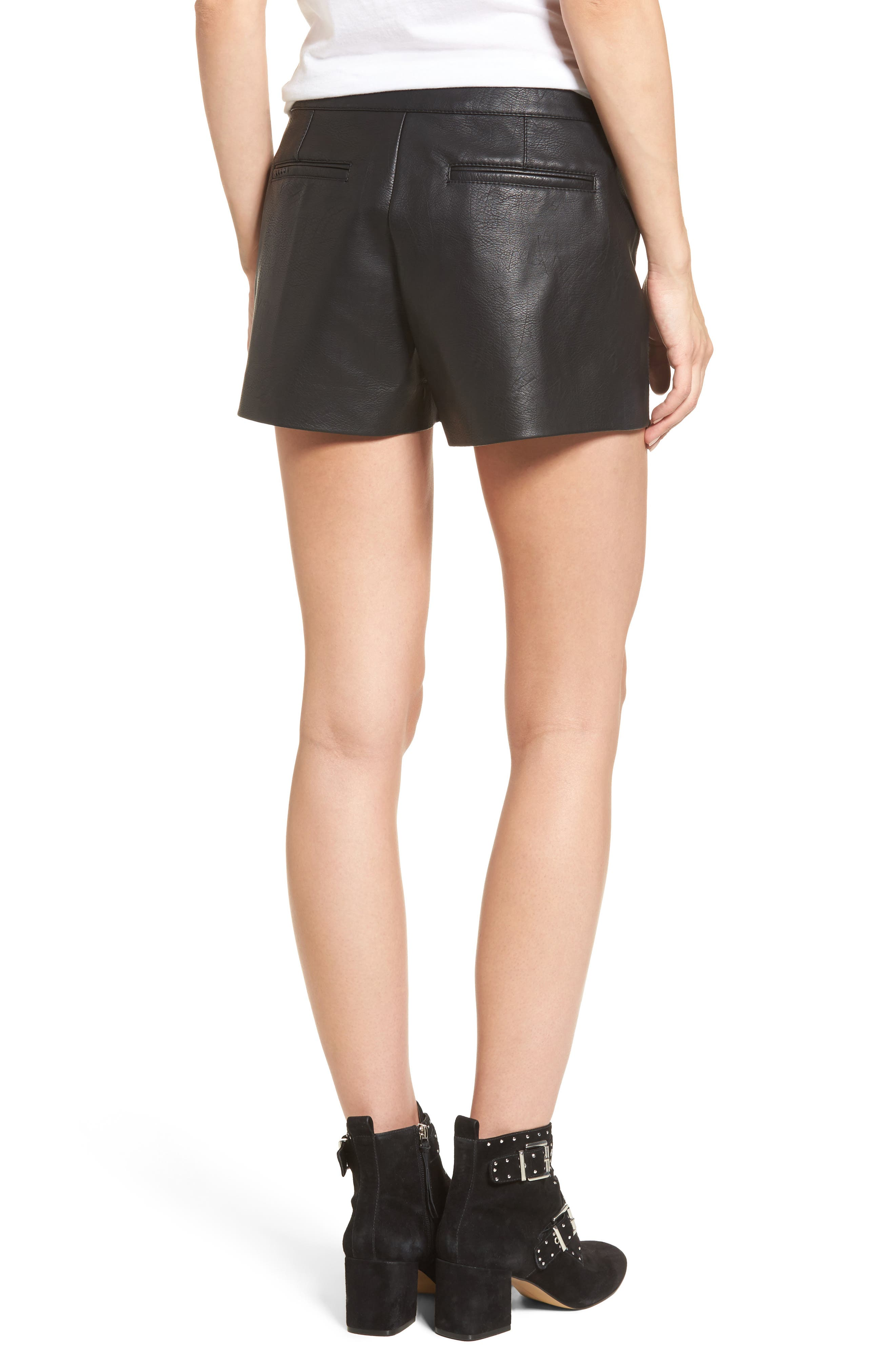 Alternate Image 2  - BLANKNYC Faux Leather Shorts