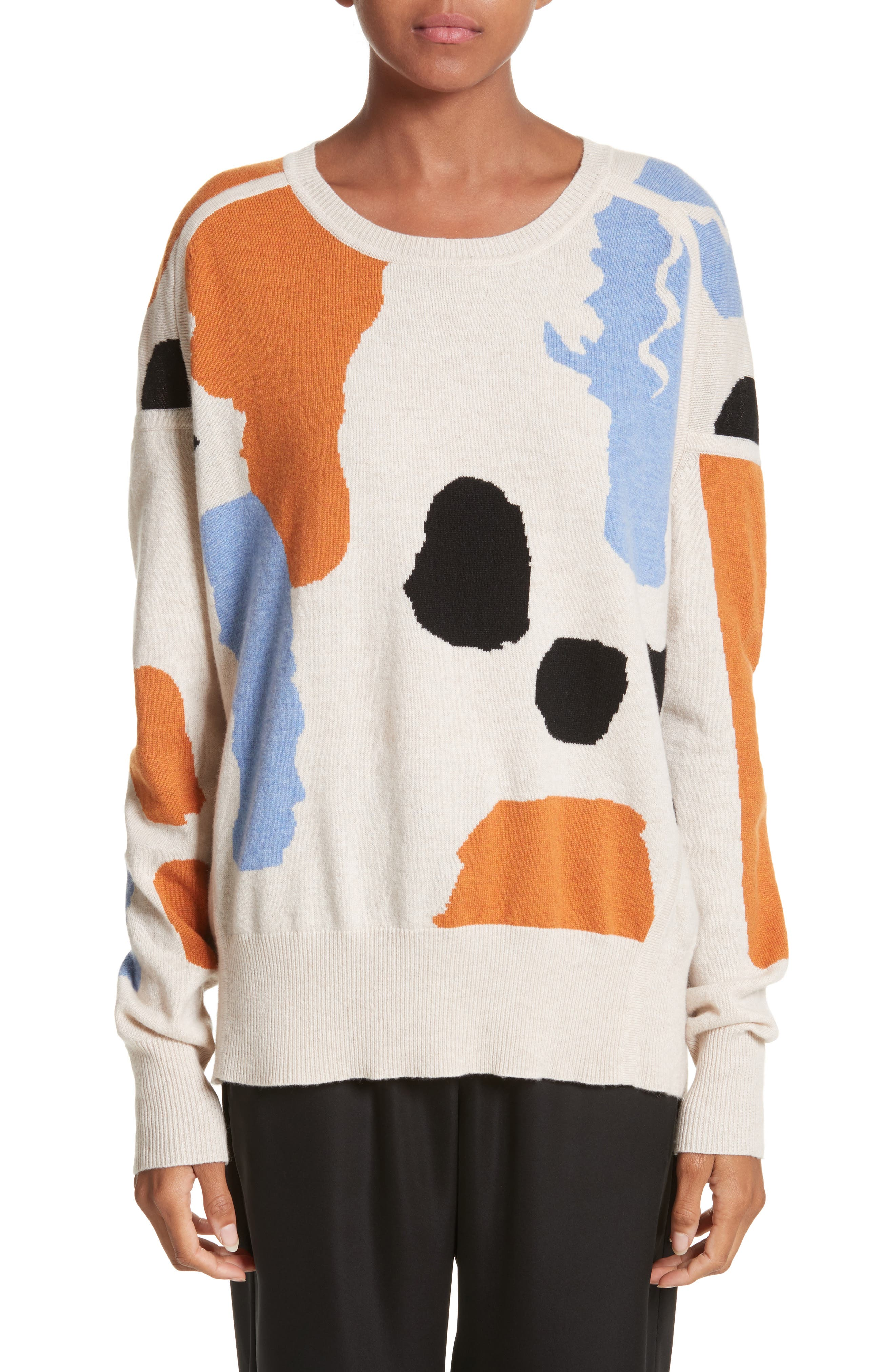 Palette Cashmere & Merino Wool Sweater,                         Main,                         color, Palette Greige