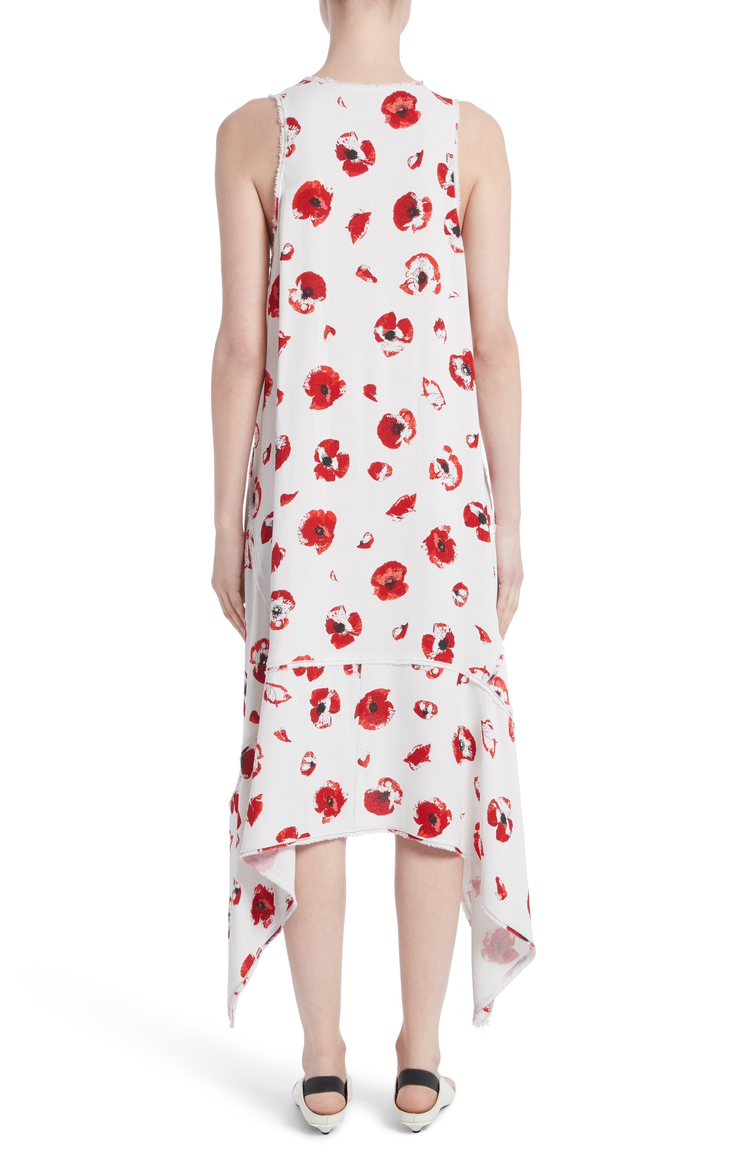 Alternate Image 2  - Proenza Schouler Floral Print Handkerchief Hem Dress