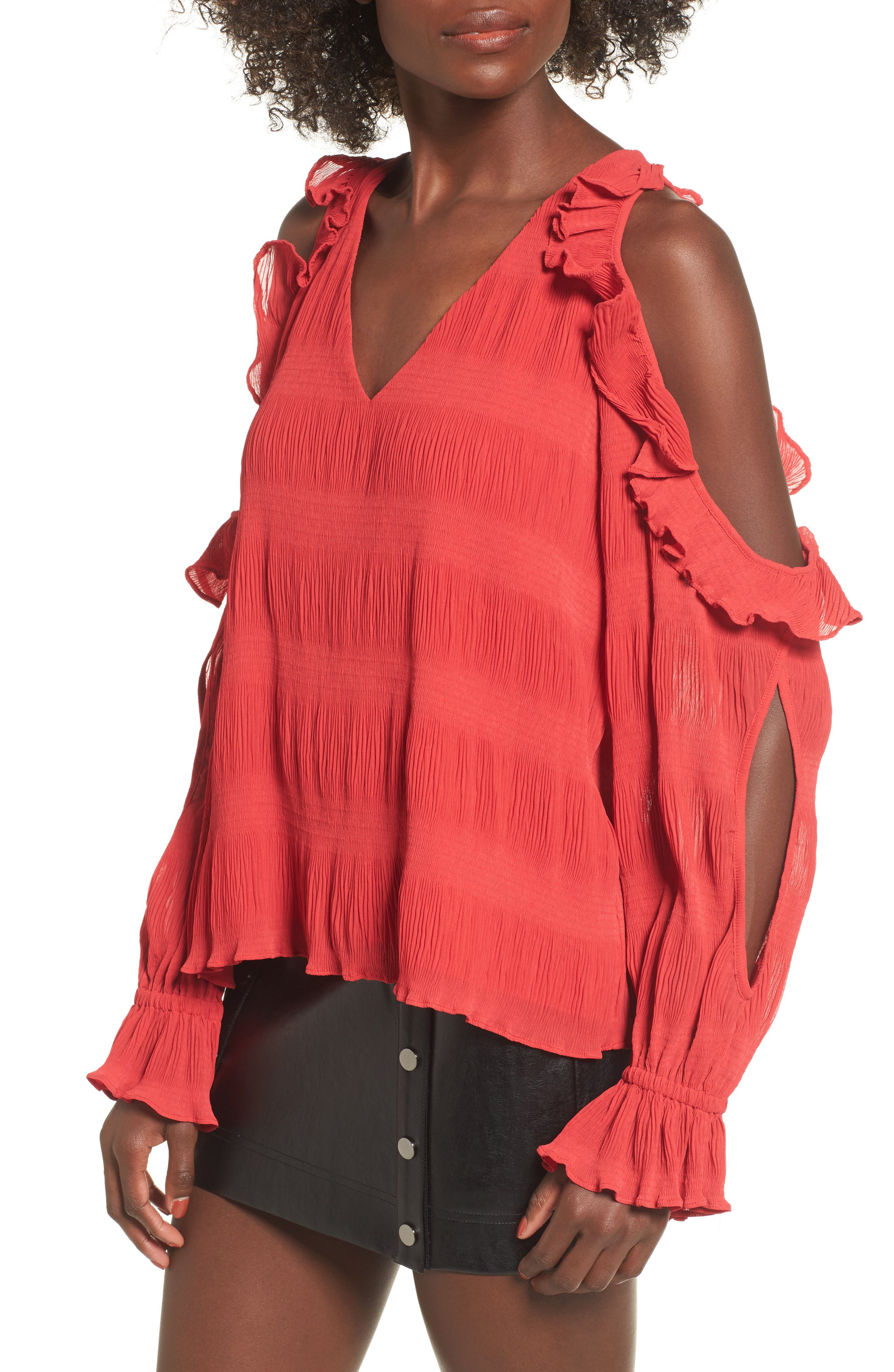 Alternate Image 1 Selected - devlin Topaz Cold Shoulder Blouse