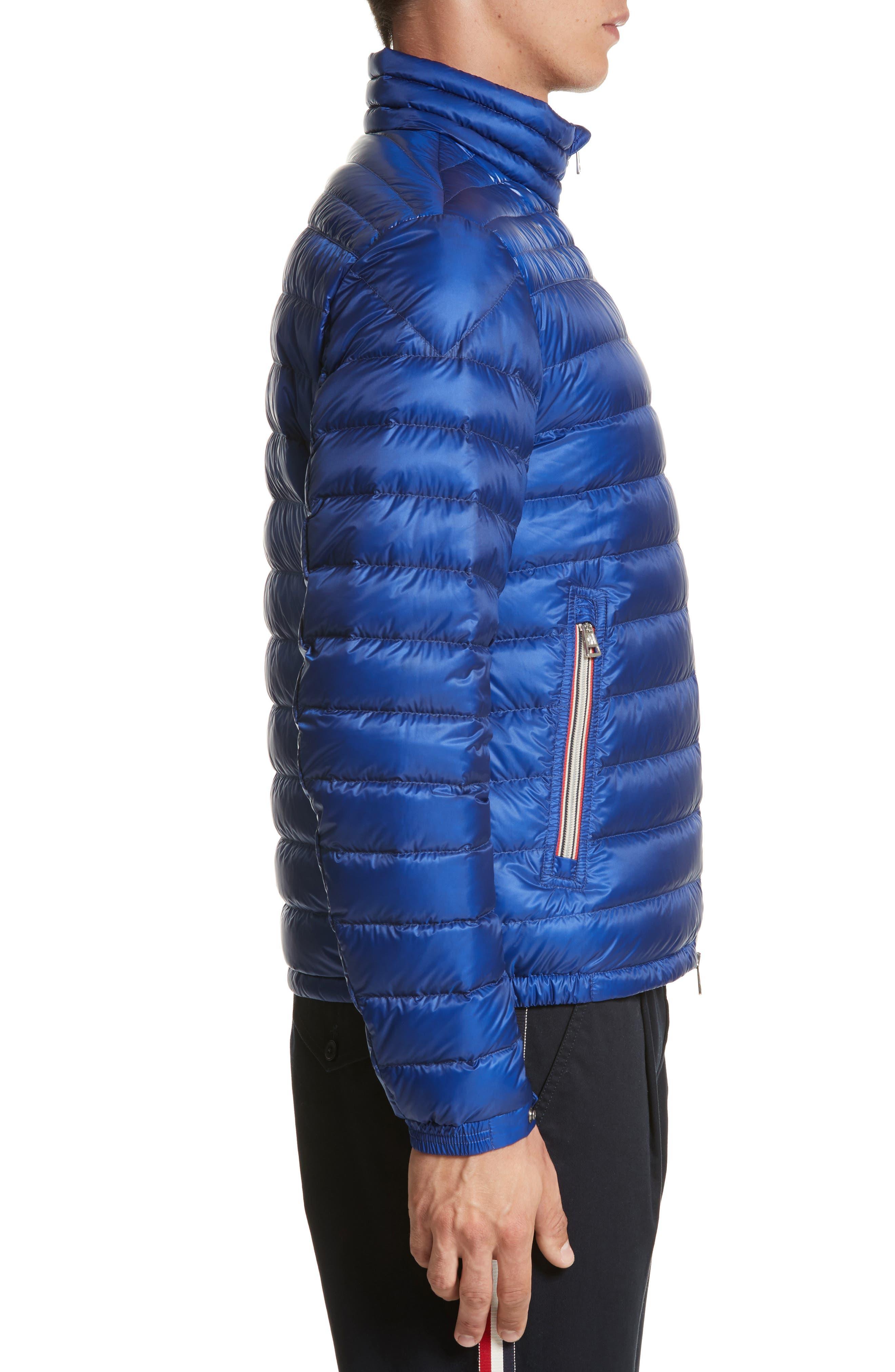 Daniel Packable Down Jacket,                             Alternate thumbnail 3, color,                             Bright Blue