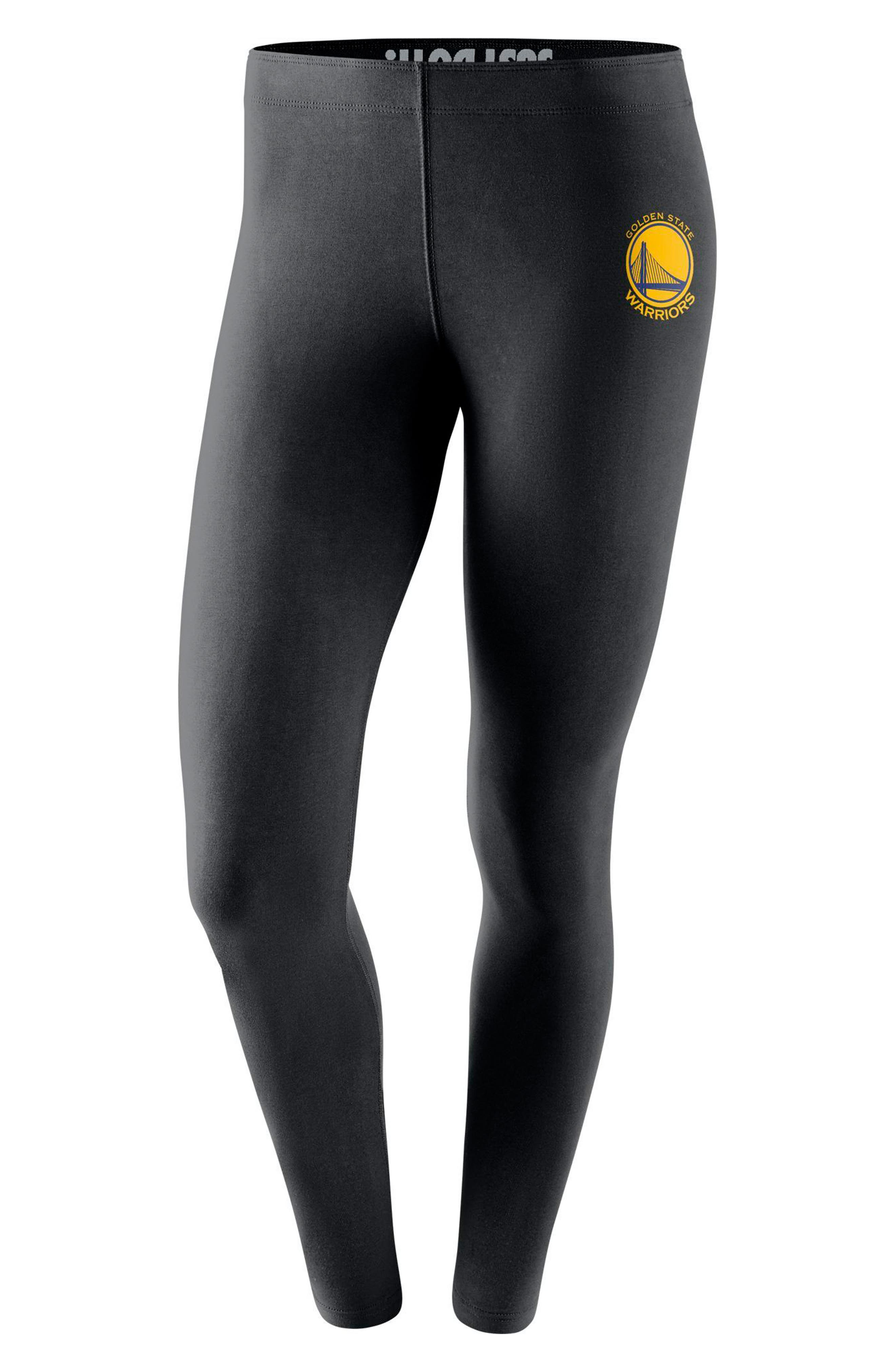 Golden State Warriors Leg-A-See Women's NBA Tights,                         Main,                         color, Black