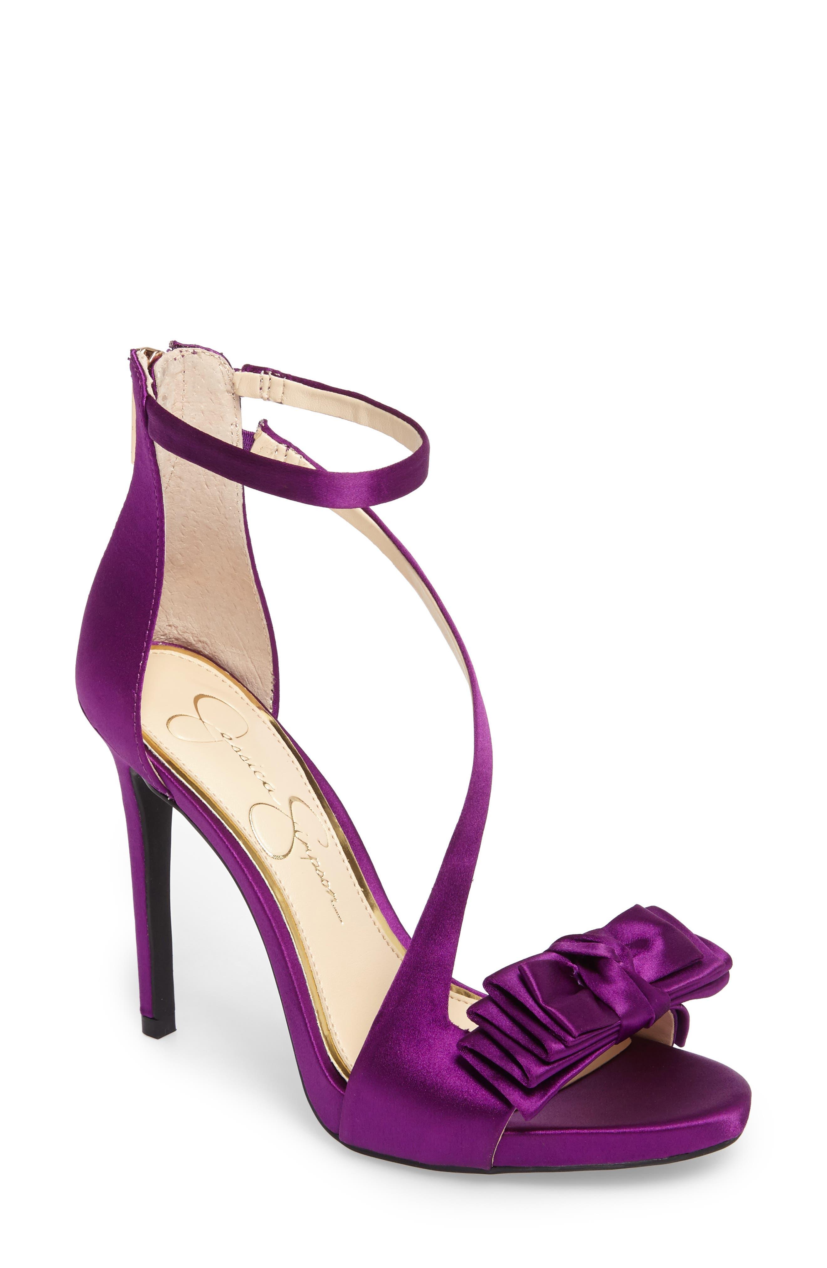 Remyia Sandal,                         Main,                         color, Elderberry Satin