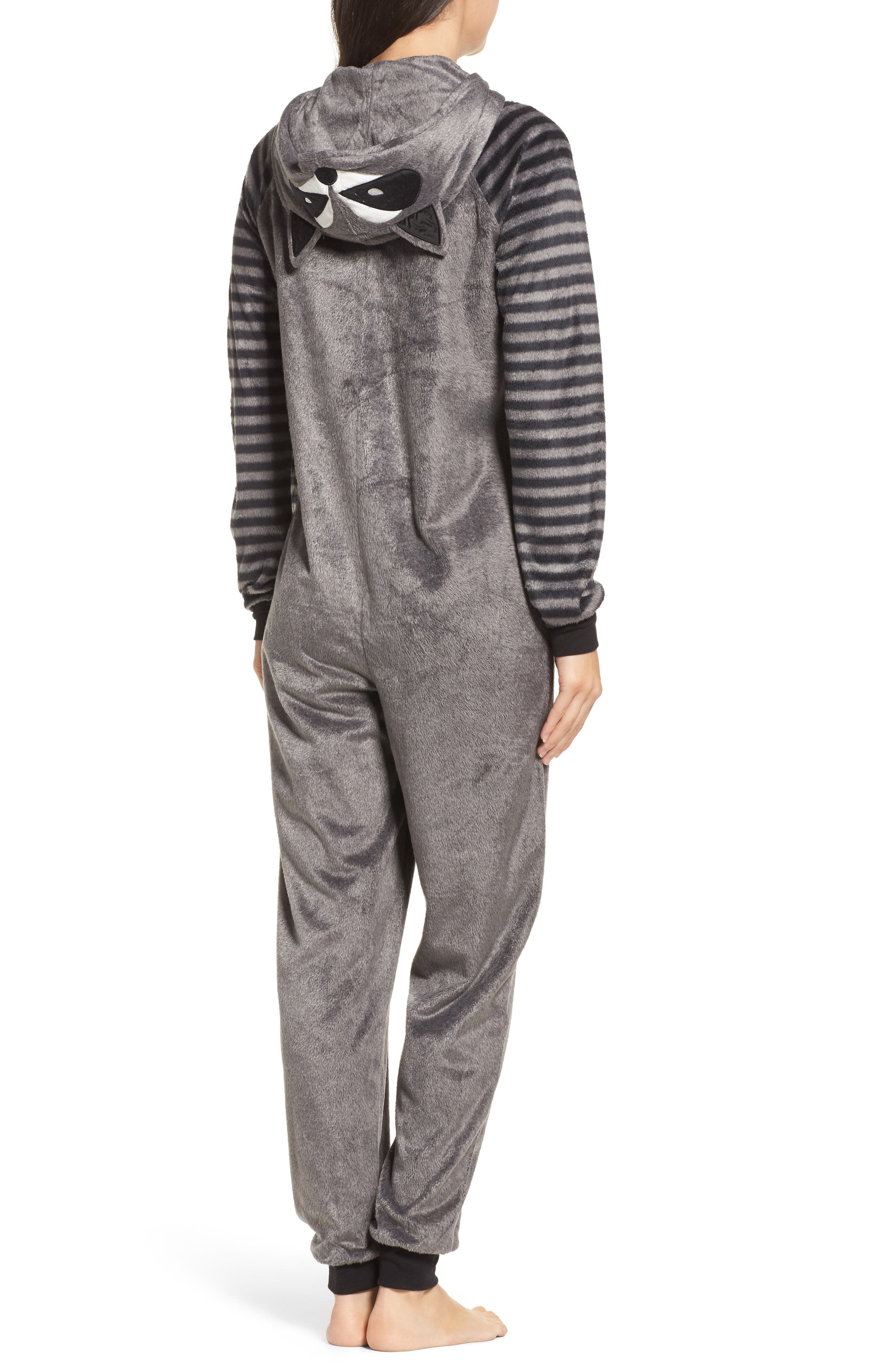 Alternate Image 2  - COZY ZOE Hooded Jumpsuit