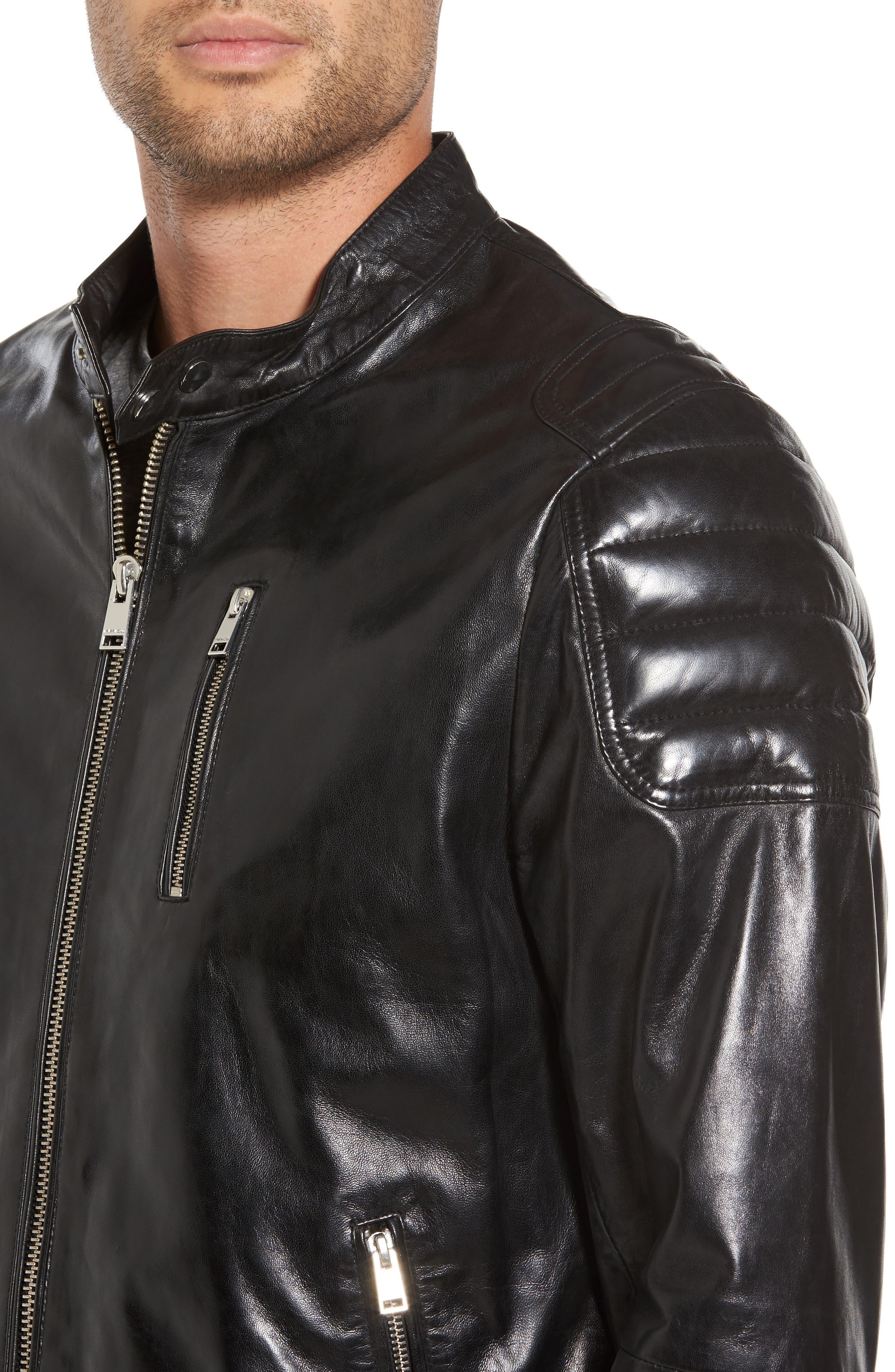 Alternate Image 4  - LAMARQUE Leather Moto Jacket