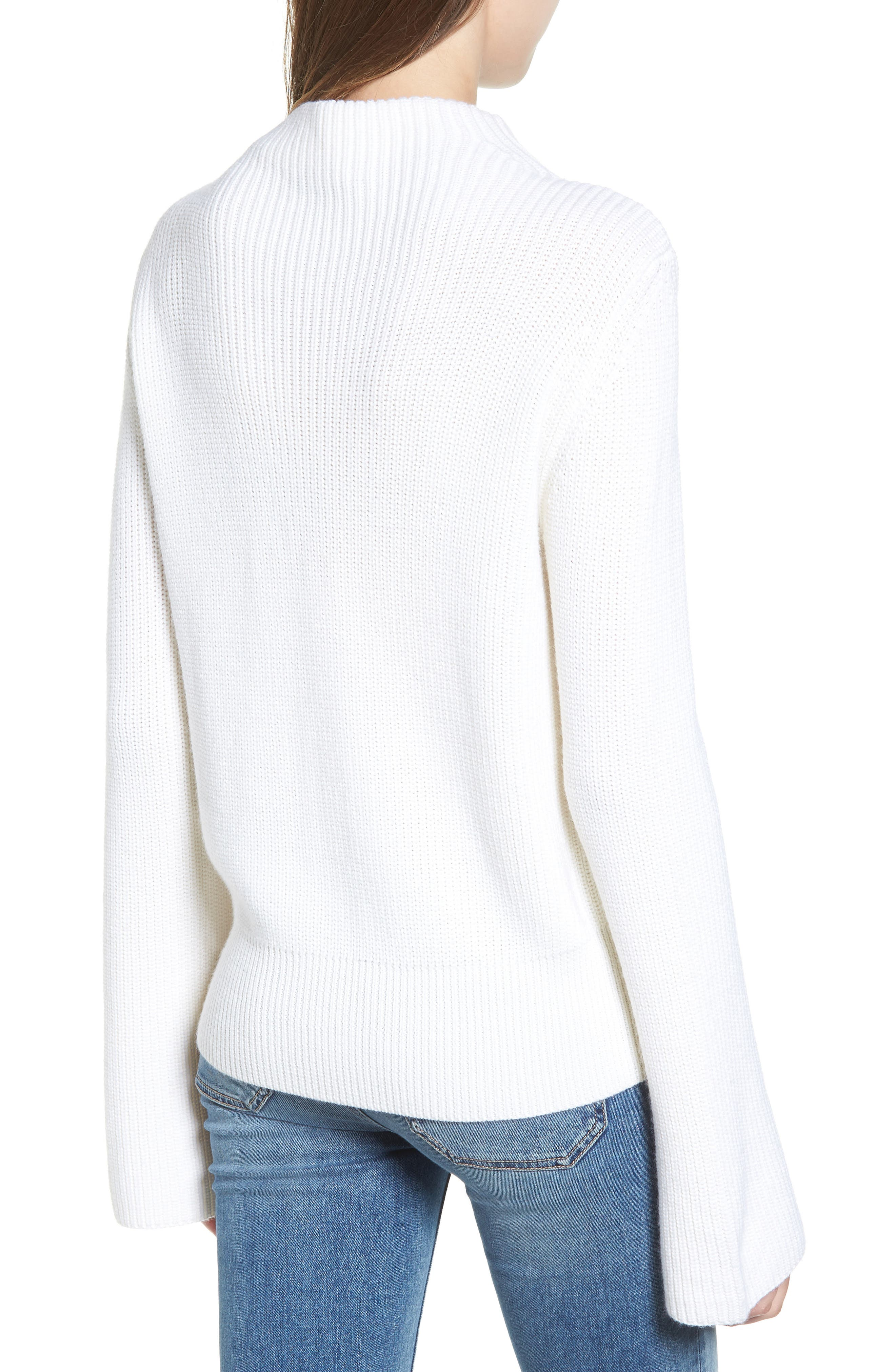Gracey Mock Neck Sweater,                             Alternate thumbnail 2, color,                             Natural