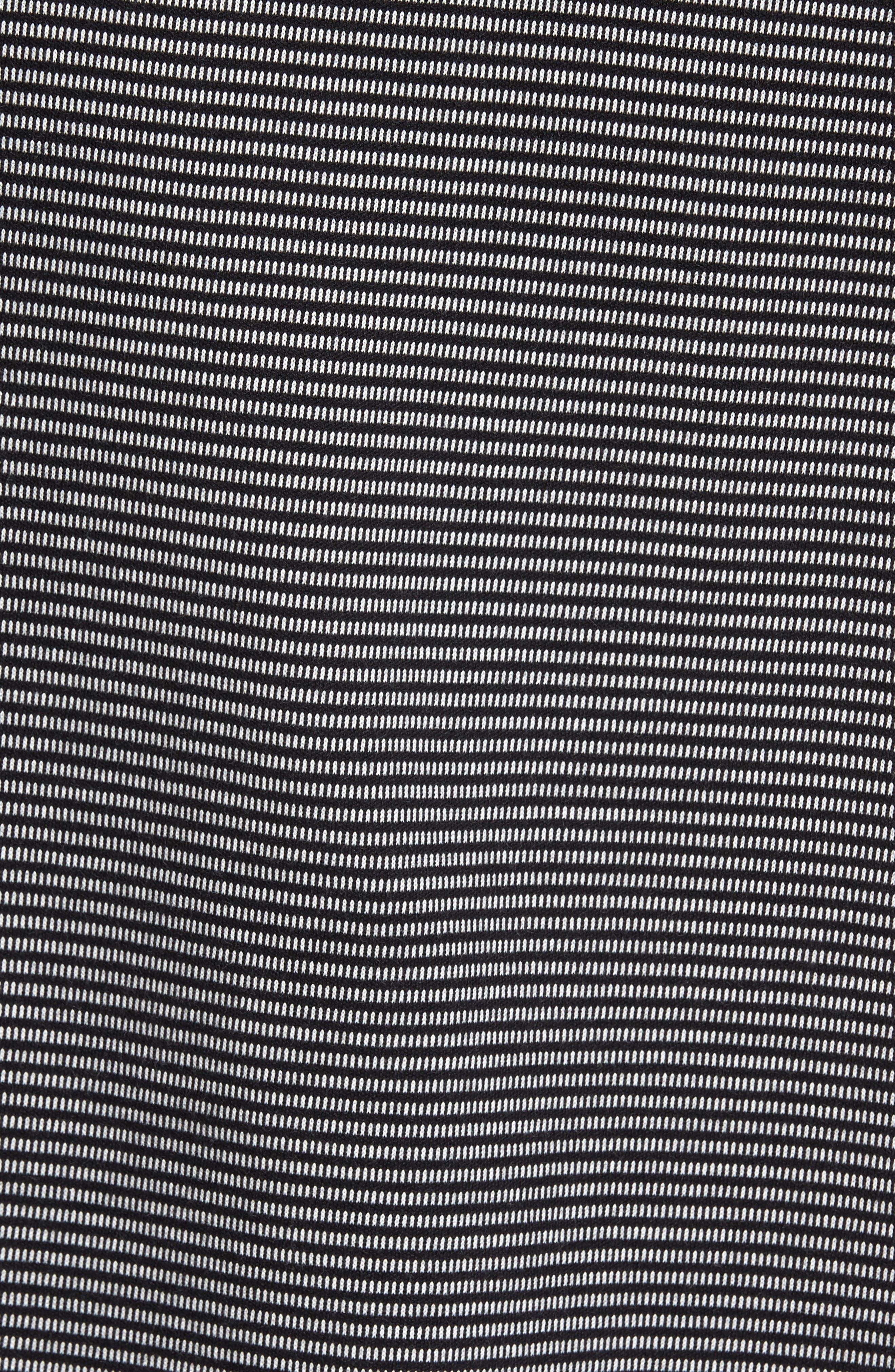 Jacquard Piqué Polo,                             Alternate thumbnail 5, color,                             Black