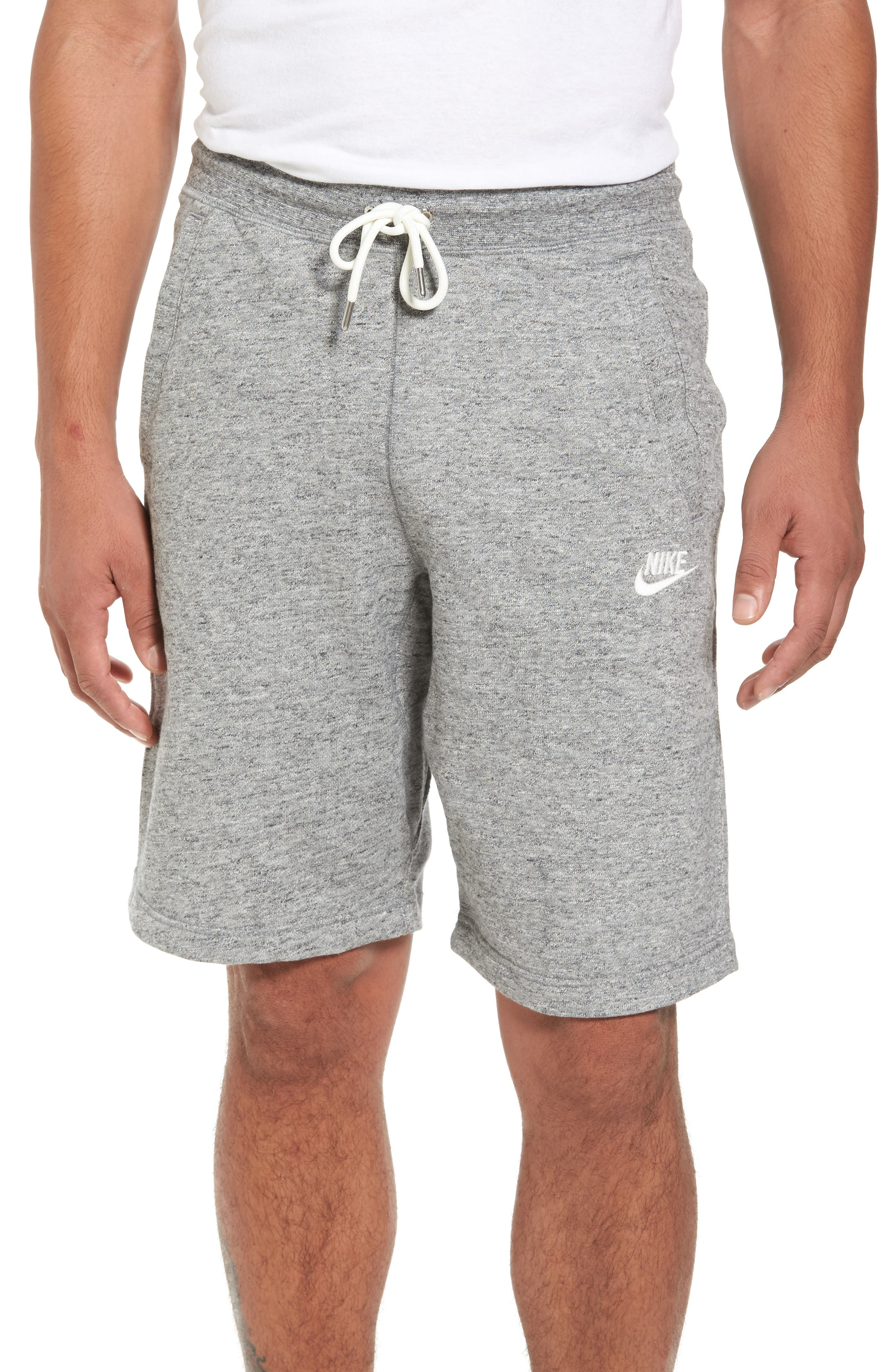 Legacy Knit Shorts,                         Main,                         color, Carbon Heather/ Sail