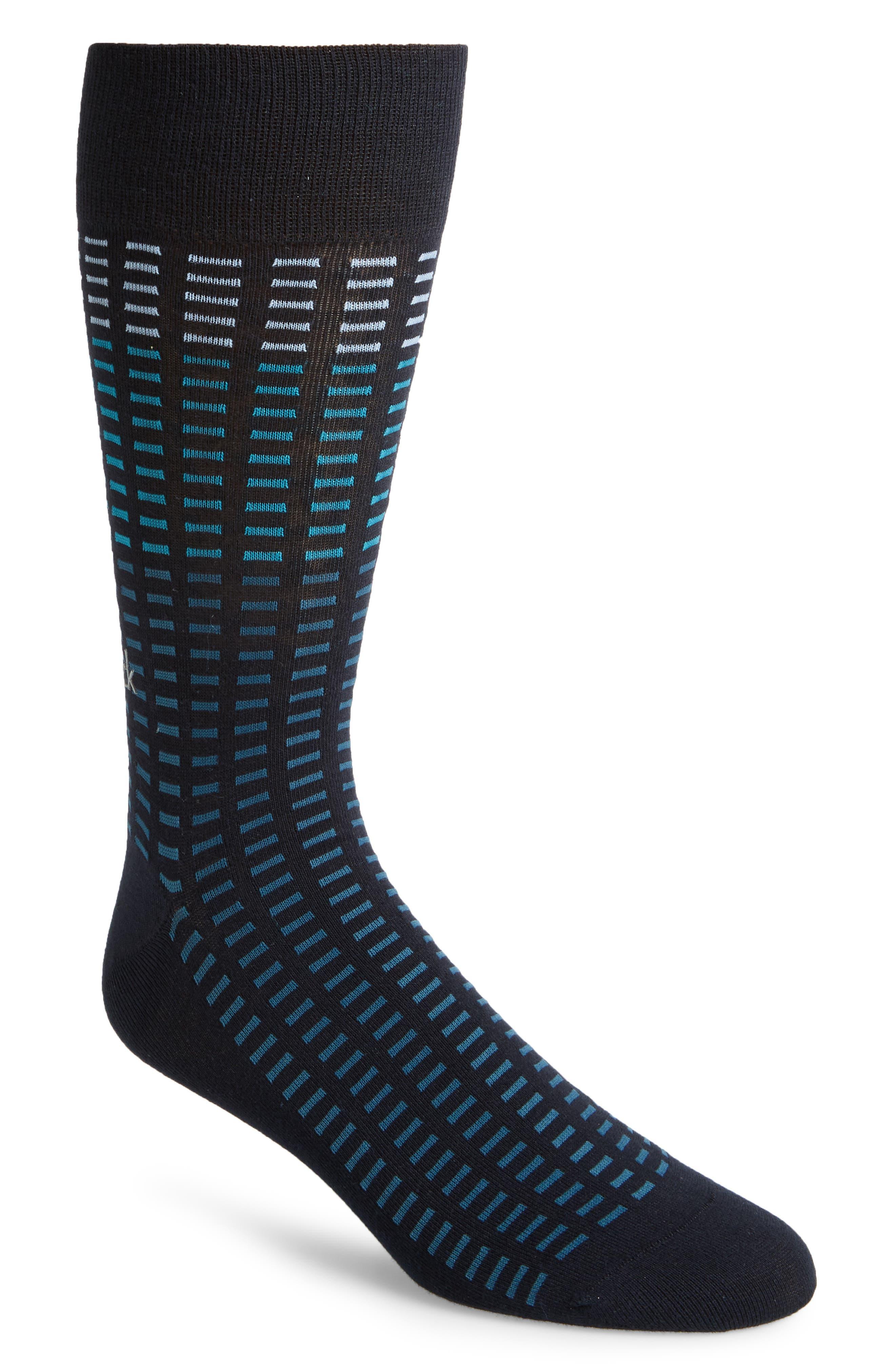 Tile Socks,                         Main,                         color, Navy