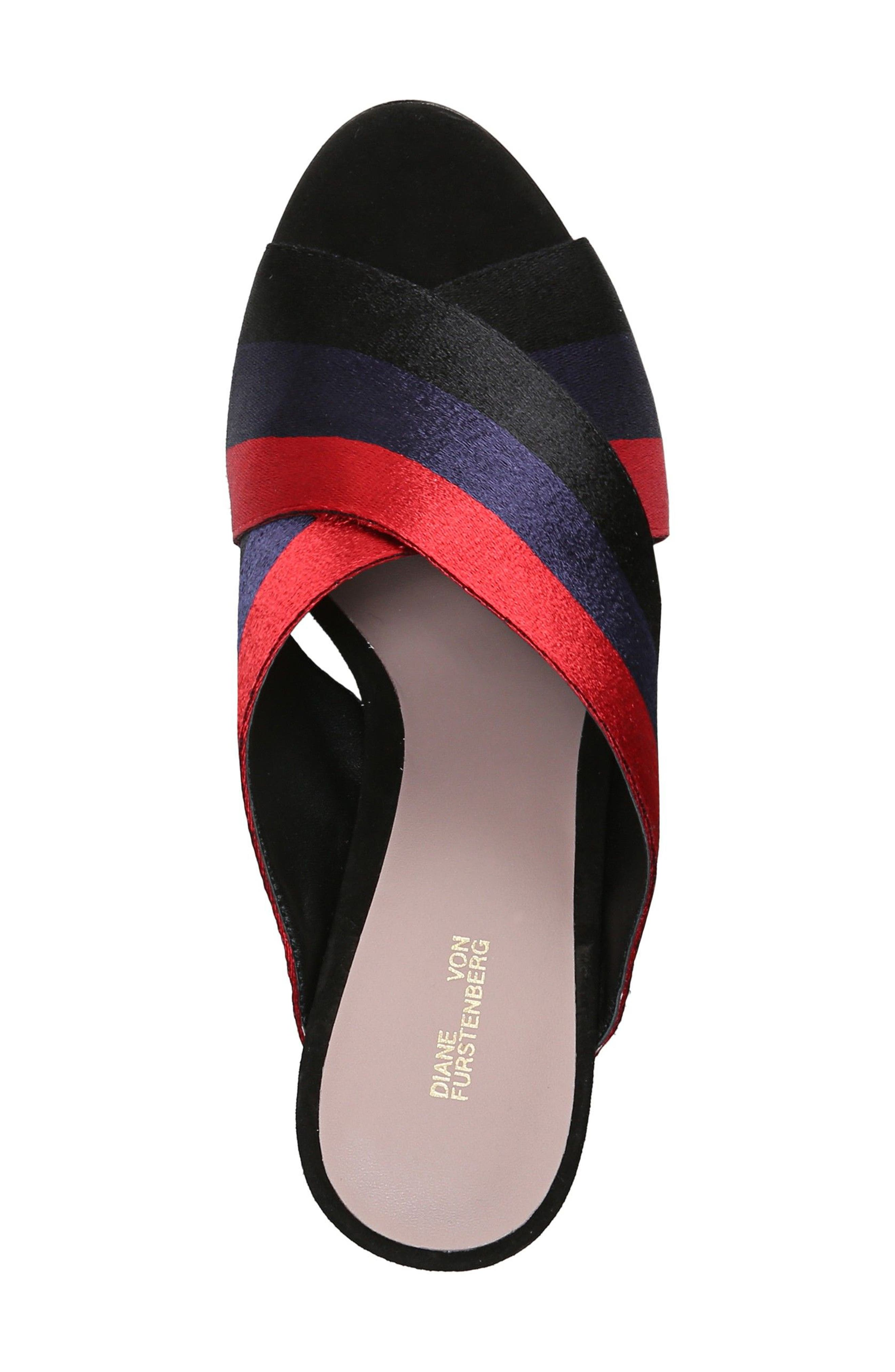 Emilyn Sandal,                             Alternate thumbnail 5, color,                             Navy/ Lipstick
