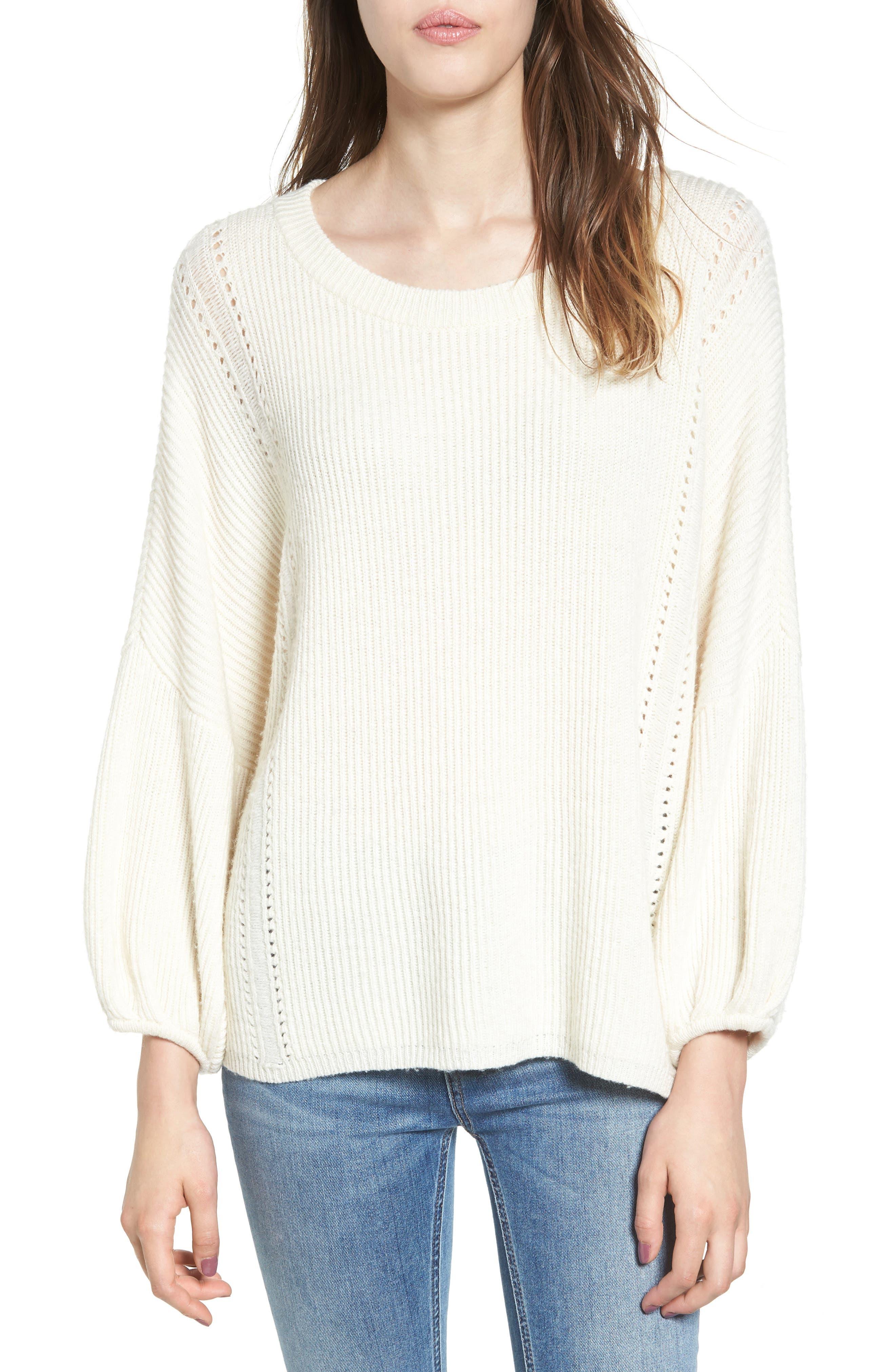 Alternate Image 1 Selected - Ella Moss Delfina Ribbed Sweater