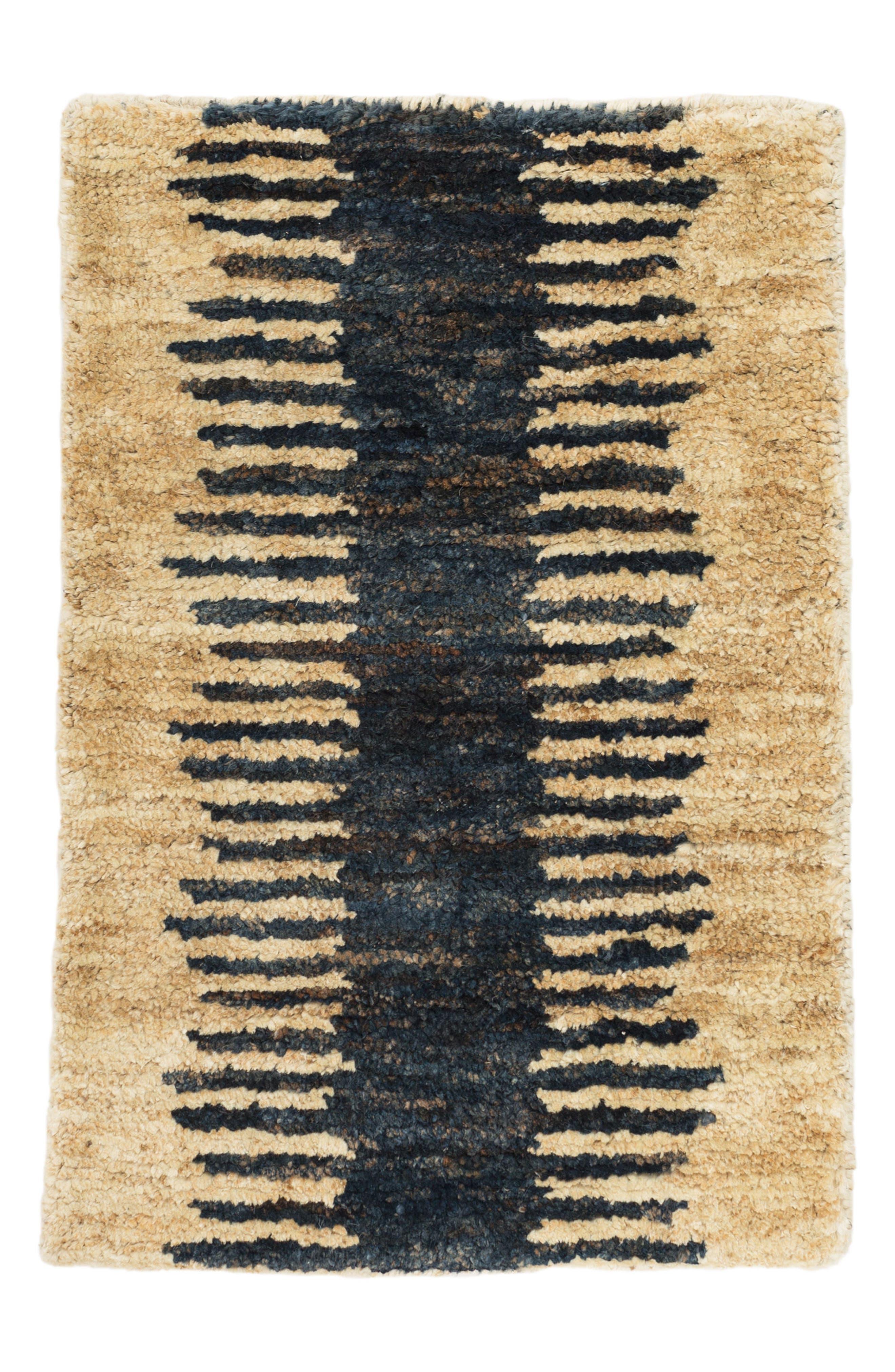 Fez Woven Jute & Cotton Rug,                         Main,                         color, Blue